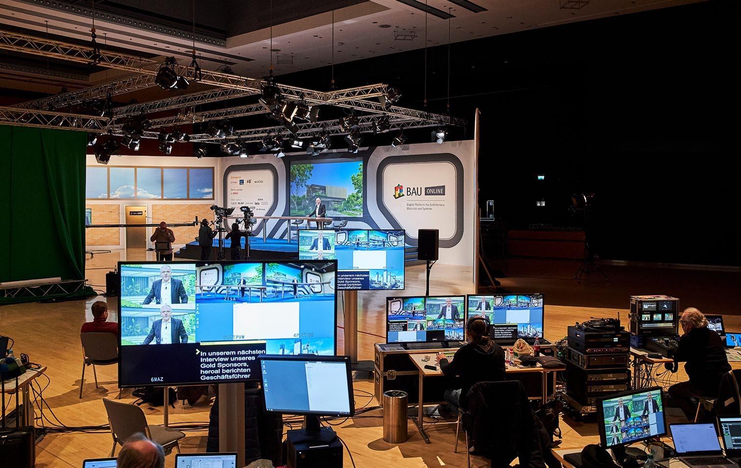 Studio für Live-Events der Bau München 2021