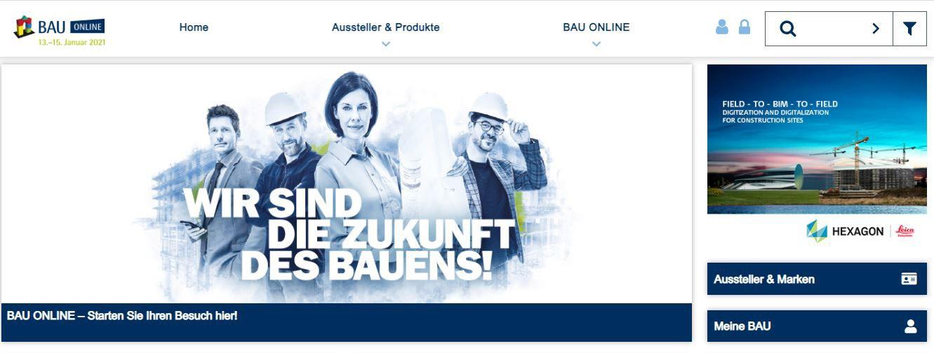 Screenshot Virtuelle Bau München 2021