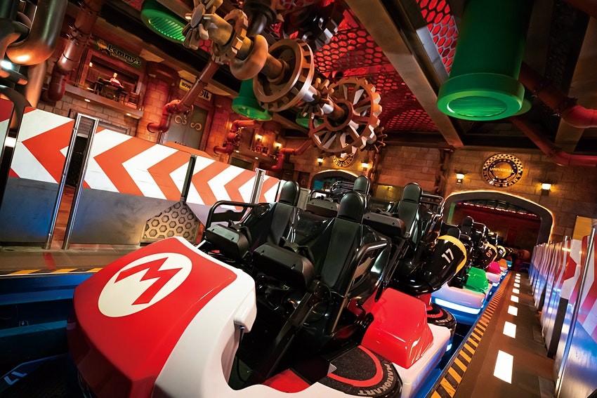 Mario-Kart-Achterbahn in der Super Nintendo World