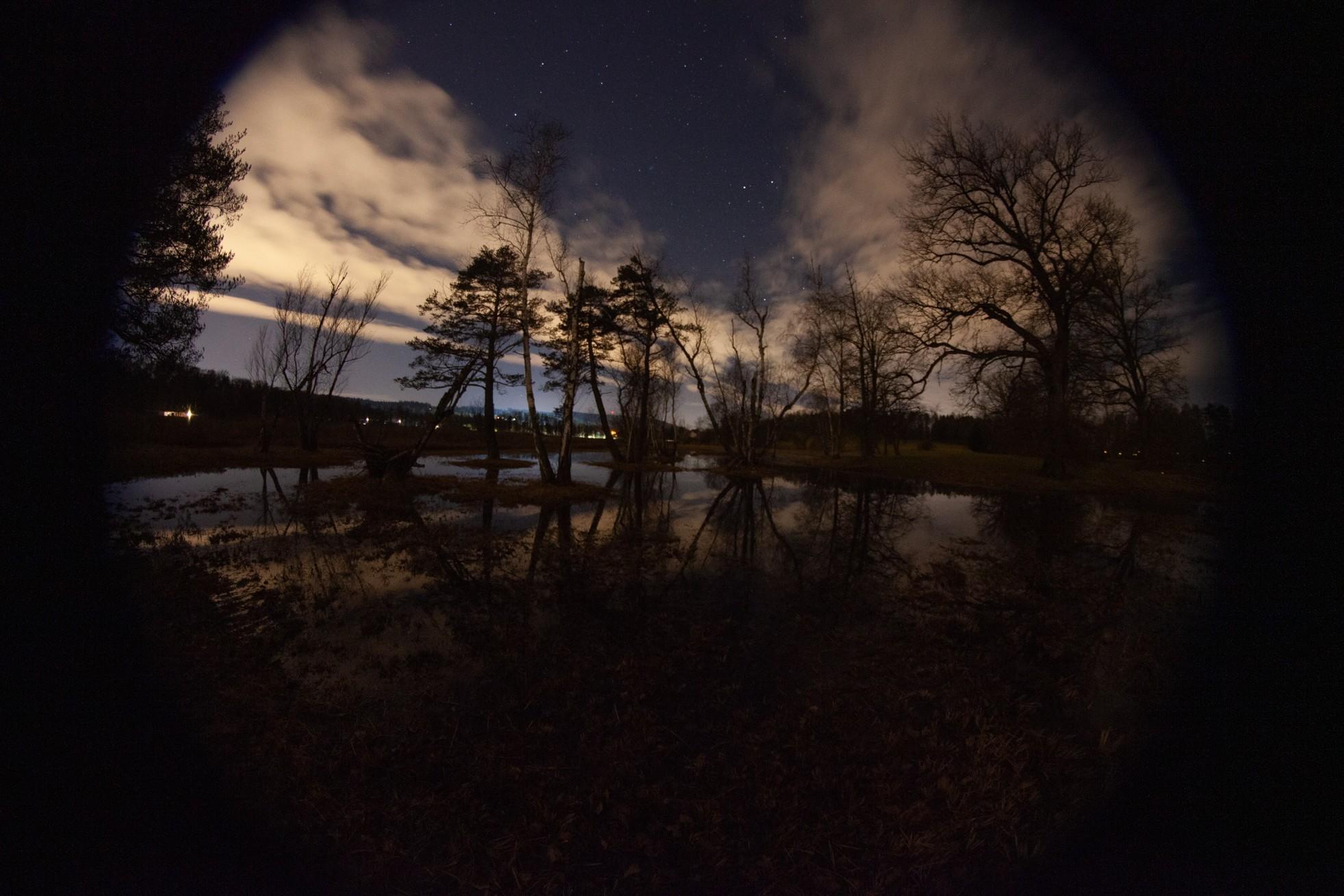 Naturschutzgebiet Katzensee Lichtverschmutzung