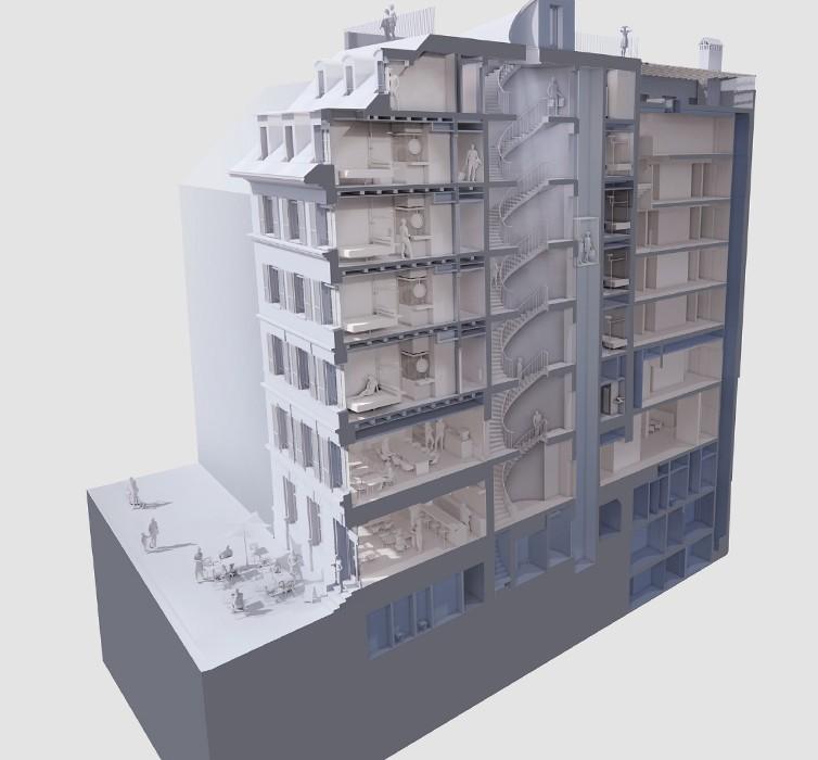 Visualisierung Umbau Hotel Metropole in Bern