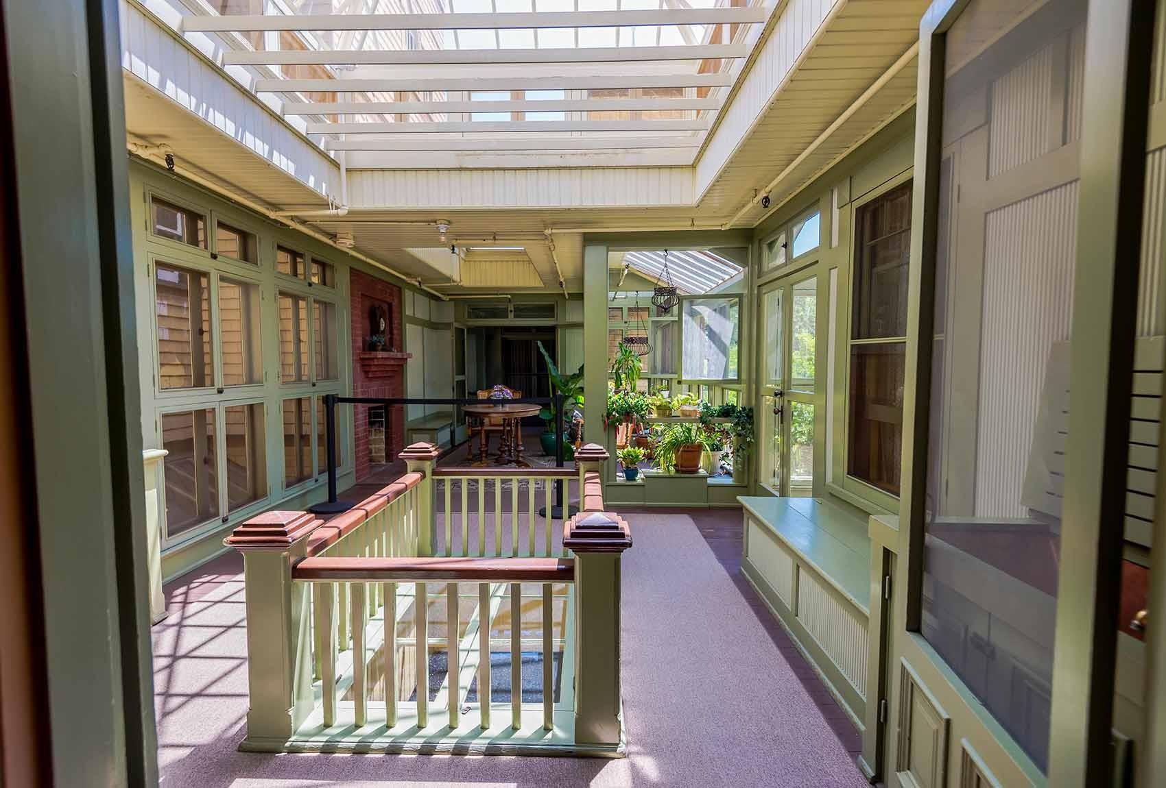 Wintergarten im Winchester Mystery Haus in San José