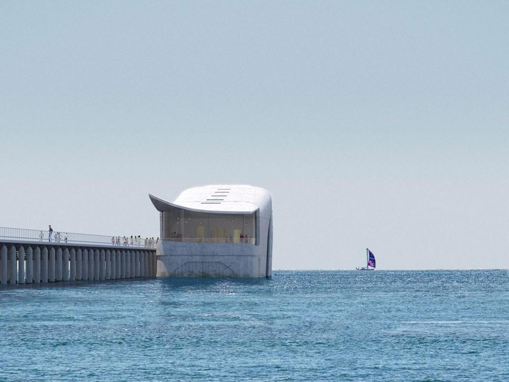 Visualisierung Meeres-Observatorium am Busselton-Jetty-Pier