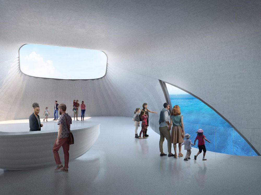 Visualisierung Innenraum Meeres-Observatorium in Australien