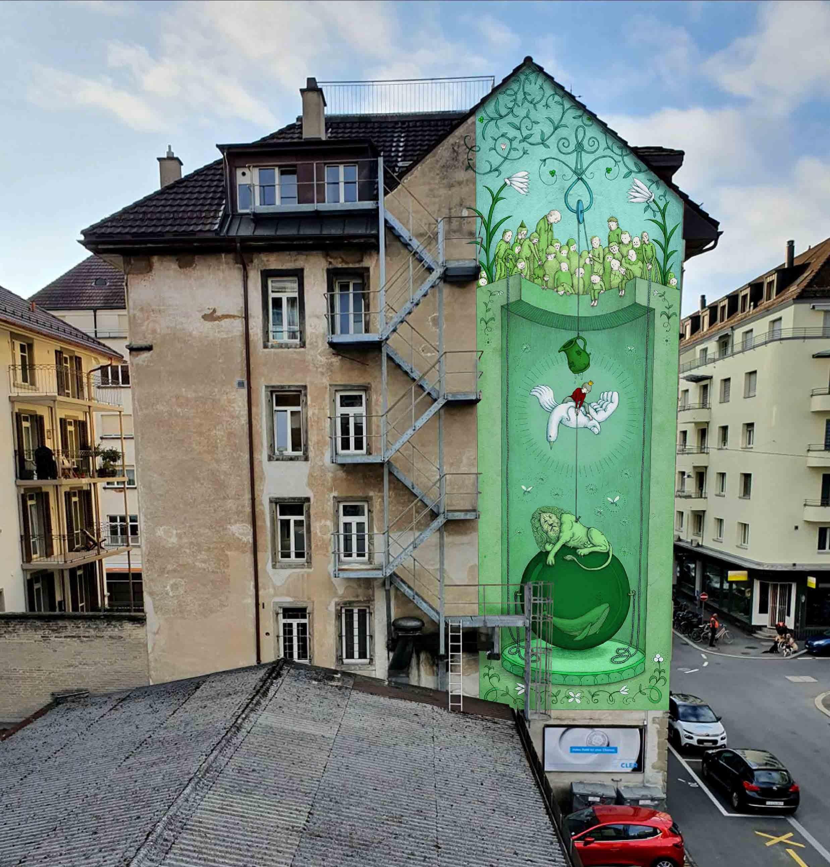 Street-Art-Wandbild Entwurf von Benedikt Notter