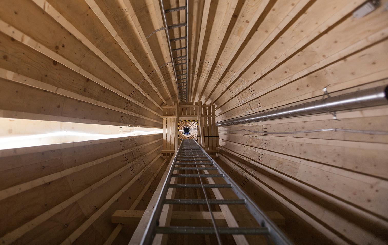 Innenraum Holz-Windrad von Modvion