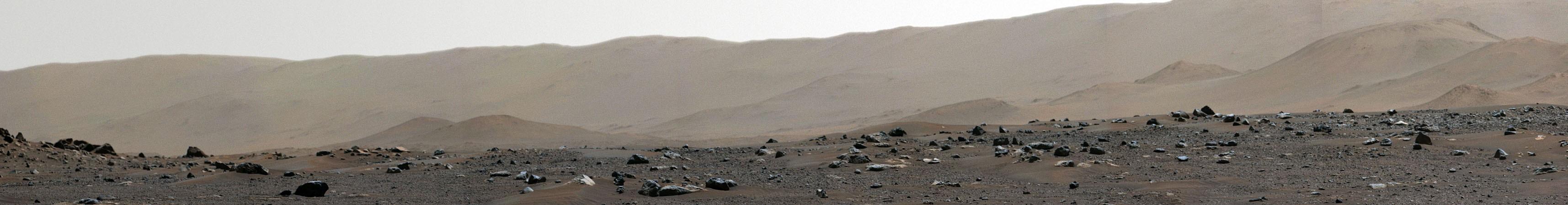 Rand des Jezero-Kraters auf dem Mars