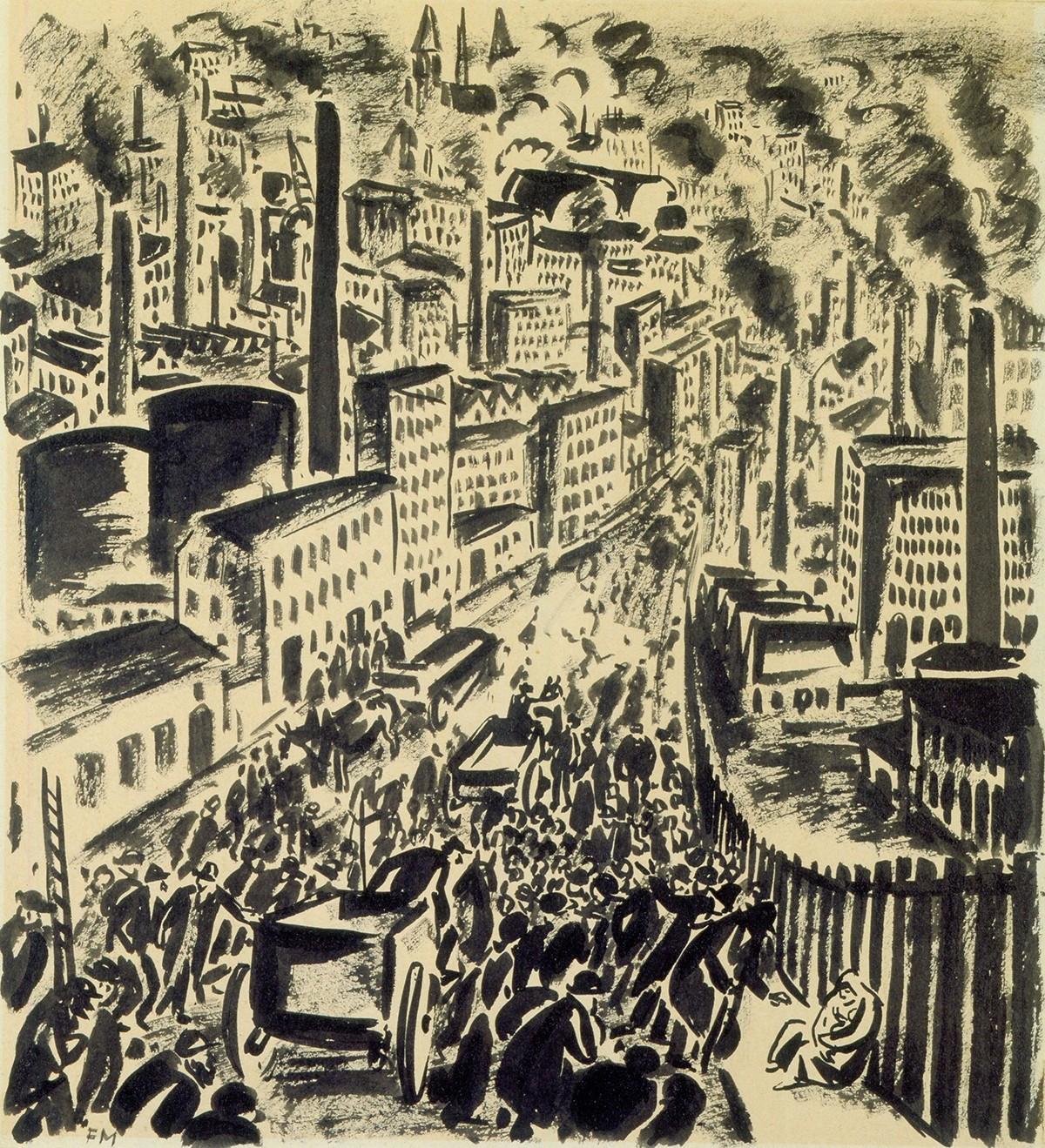 Franz Masereel. Zeichnung.