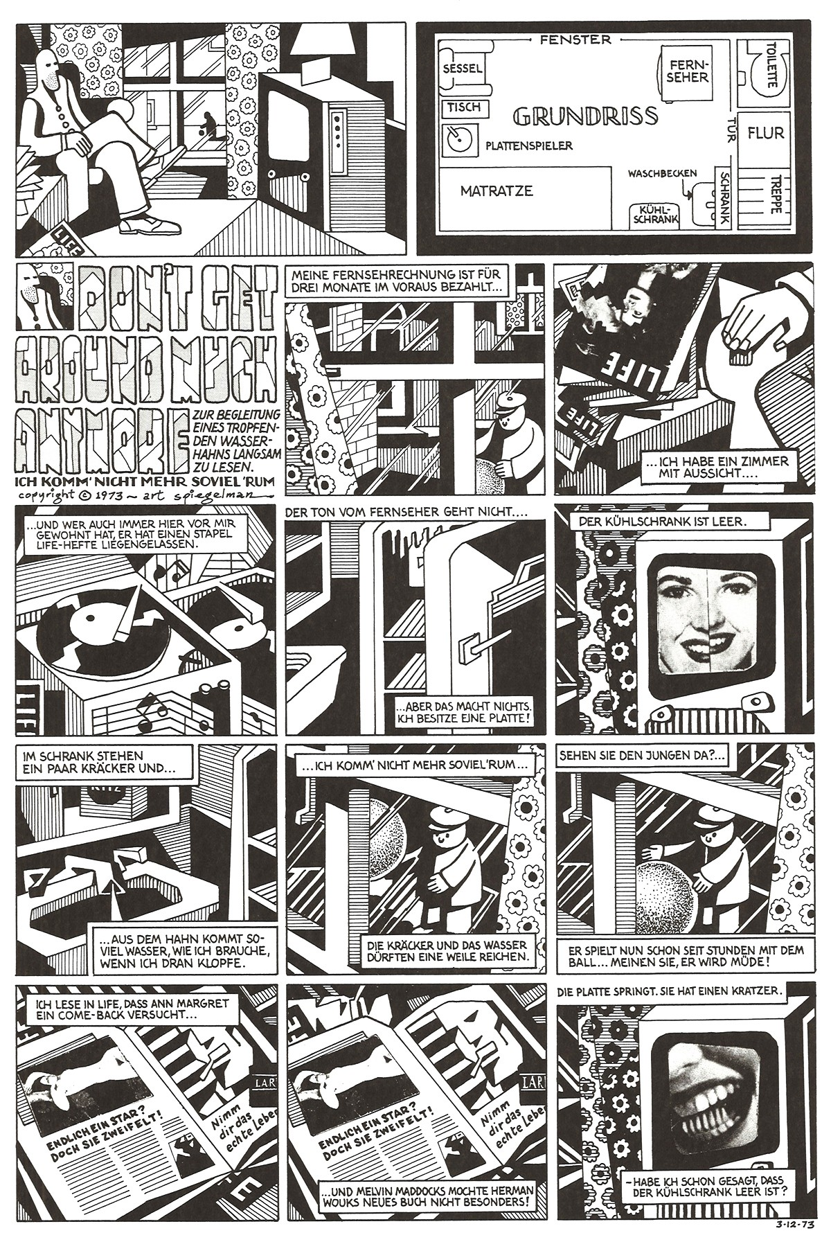 Art Spiegeman, Don't get around much more, 1973