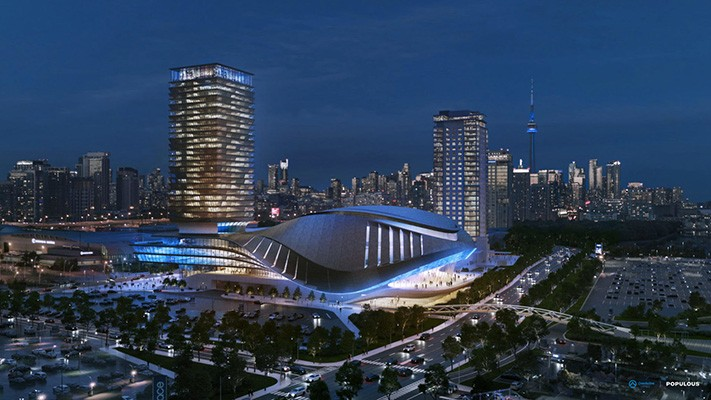 Visualisierung E-Sport-Stadion in Toronto