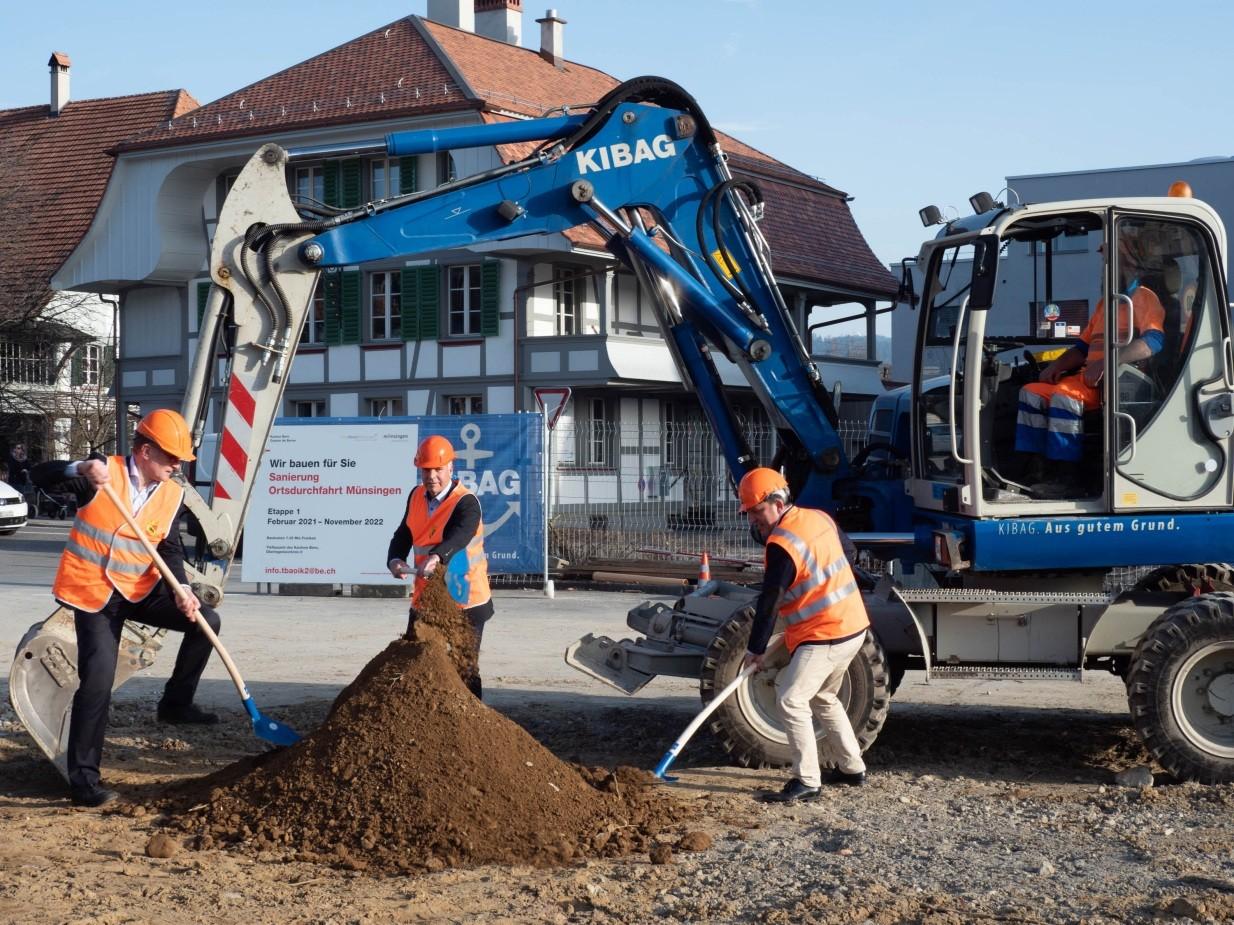 Spatenstich Sanierung Ortsdurchfahrt Münsingen