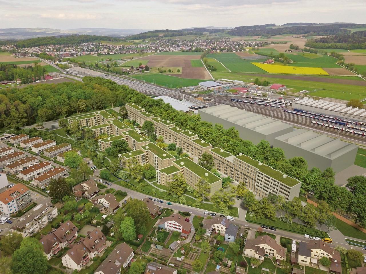 Visualisierung Überbauung Eichwaldhof in Winterthur
