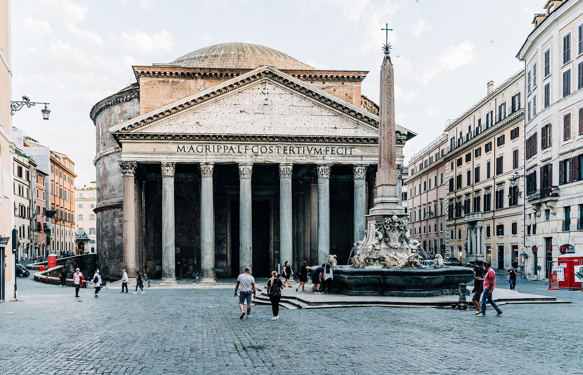 Pantheon in Rom, Aussenansicht