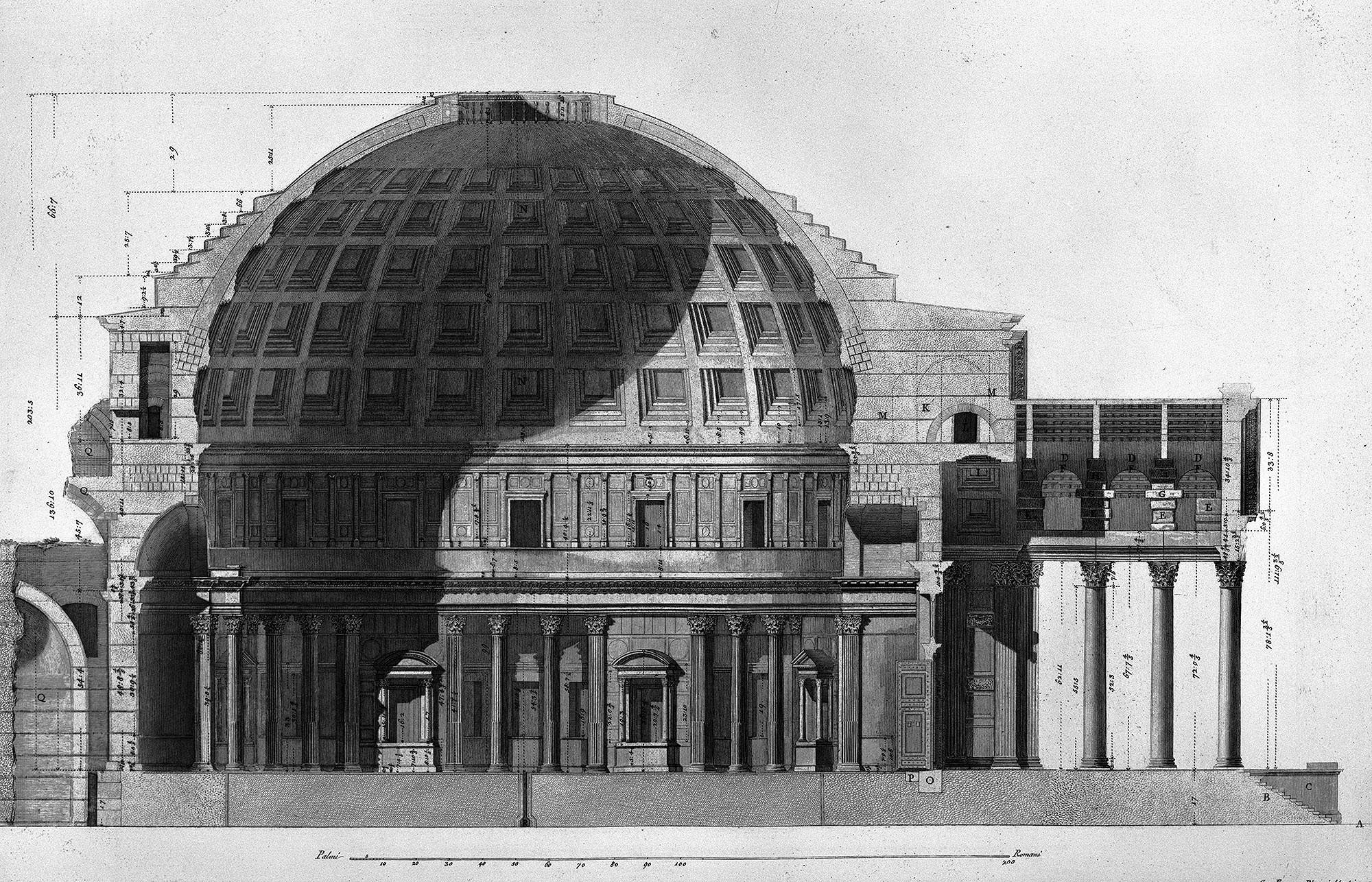 Querschnitt des Pantheons, Giovanni Battista Piranesi