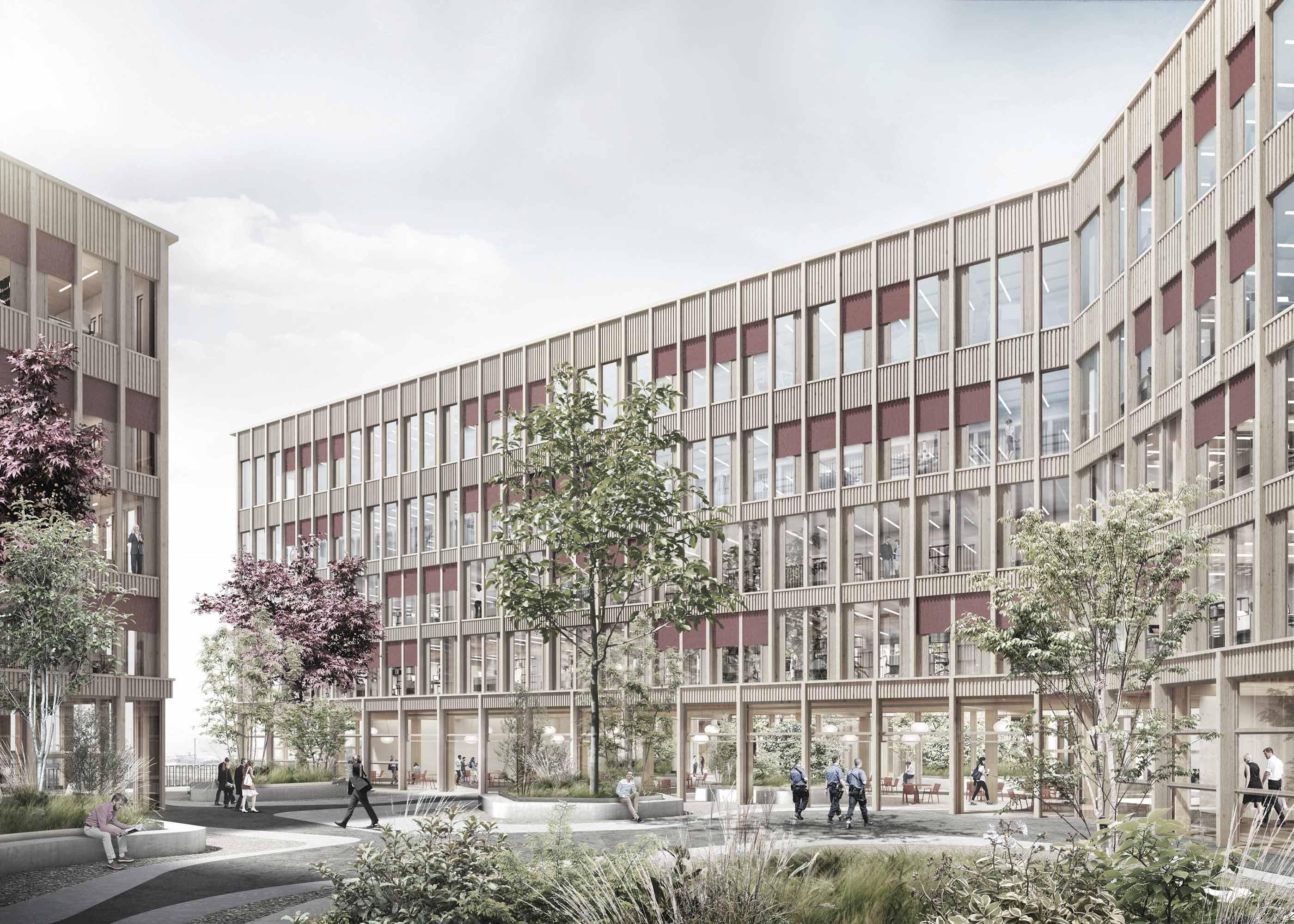 Visualisierung neues Sicherheitszentrum Rothenburg Innenhof