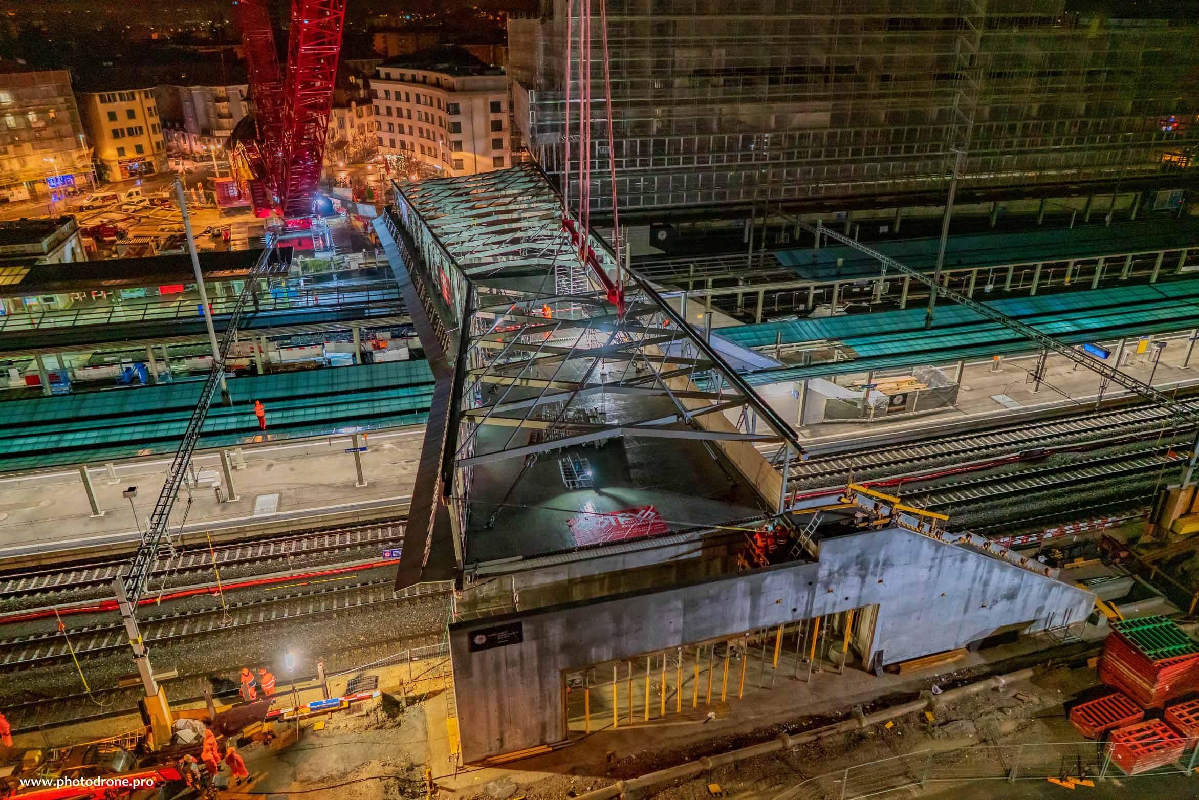 Bauarbeiten am Bahnhof Renens