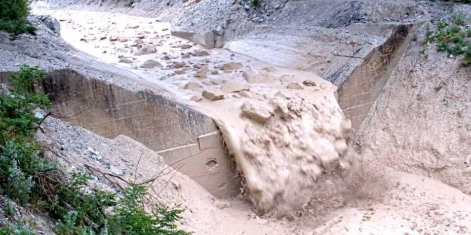 Murgang im unteren Illgraben