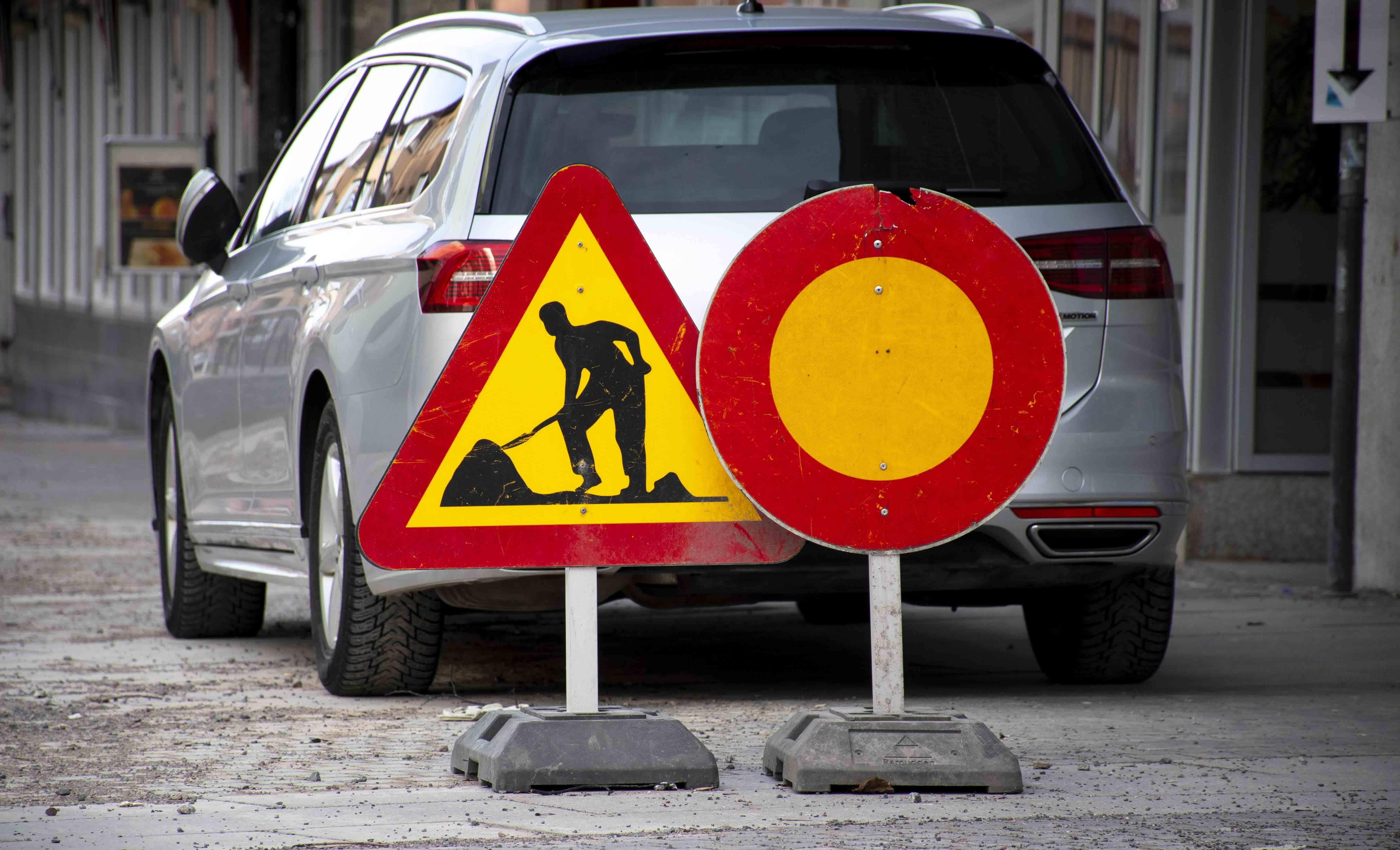 Strassenschilder in Schweden