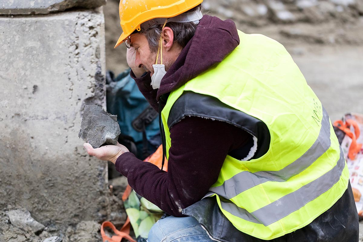 Fossiliensuche auf RBS-Baustelle in Bern