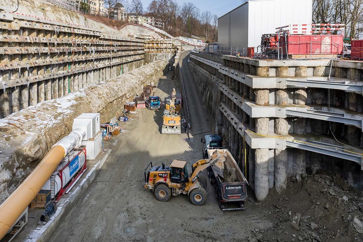 RBS-Baustelle am Bierhügel in Bern