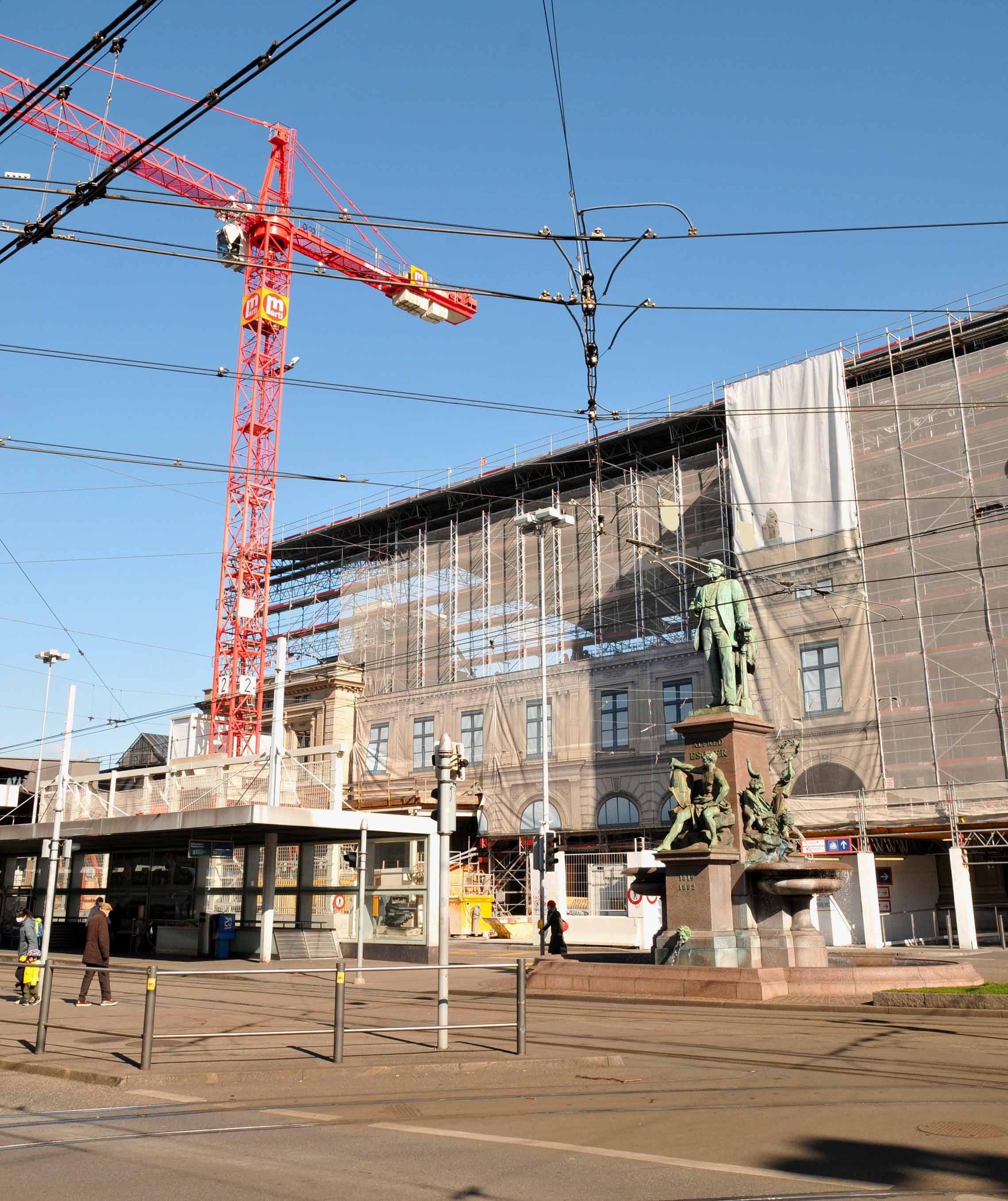 Sanierung am Hauptbahnhof Zürich
