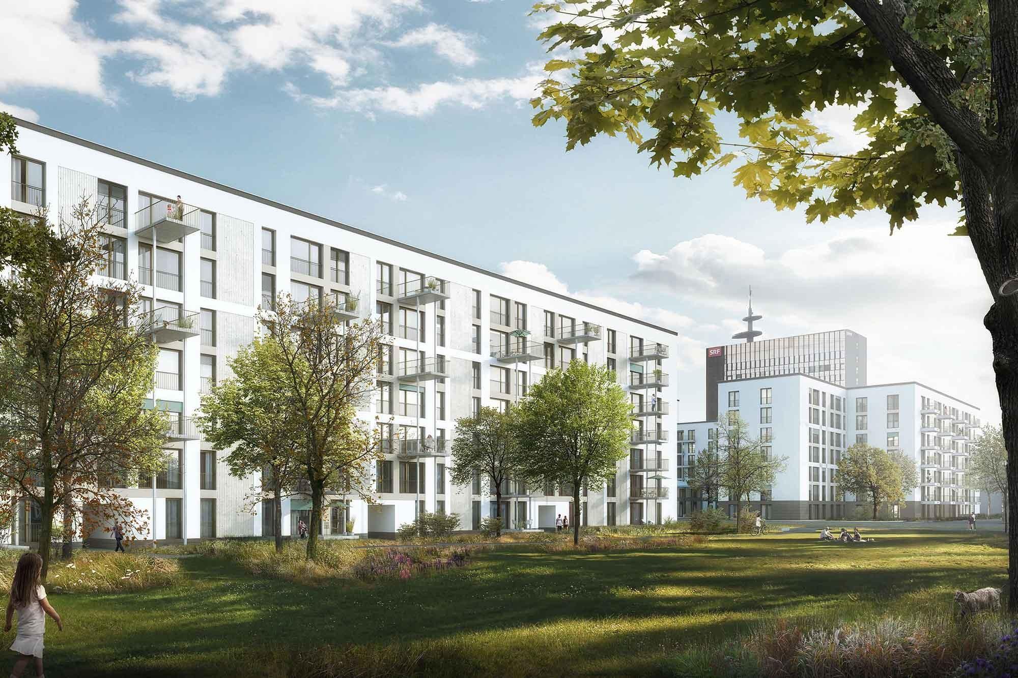 Visualisierung Wohnsiedlung Leutschenbach