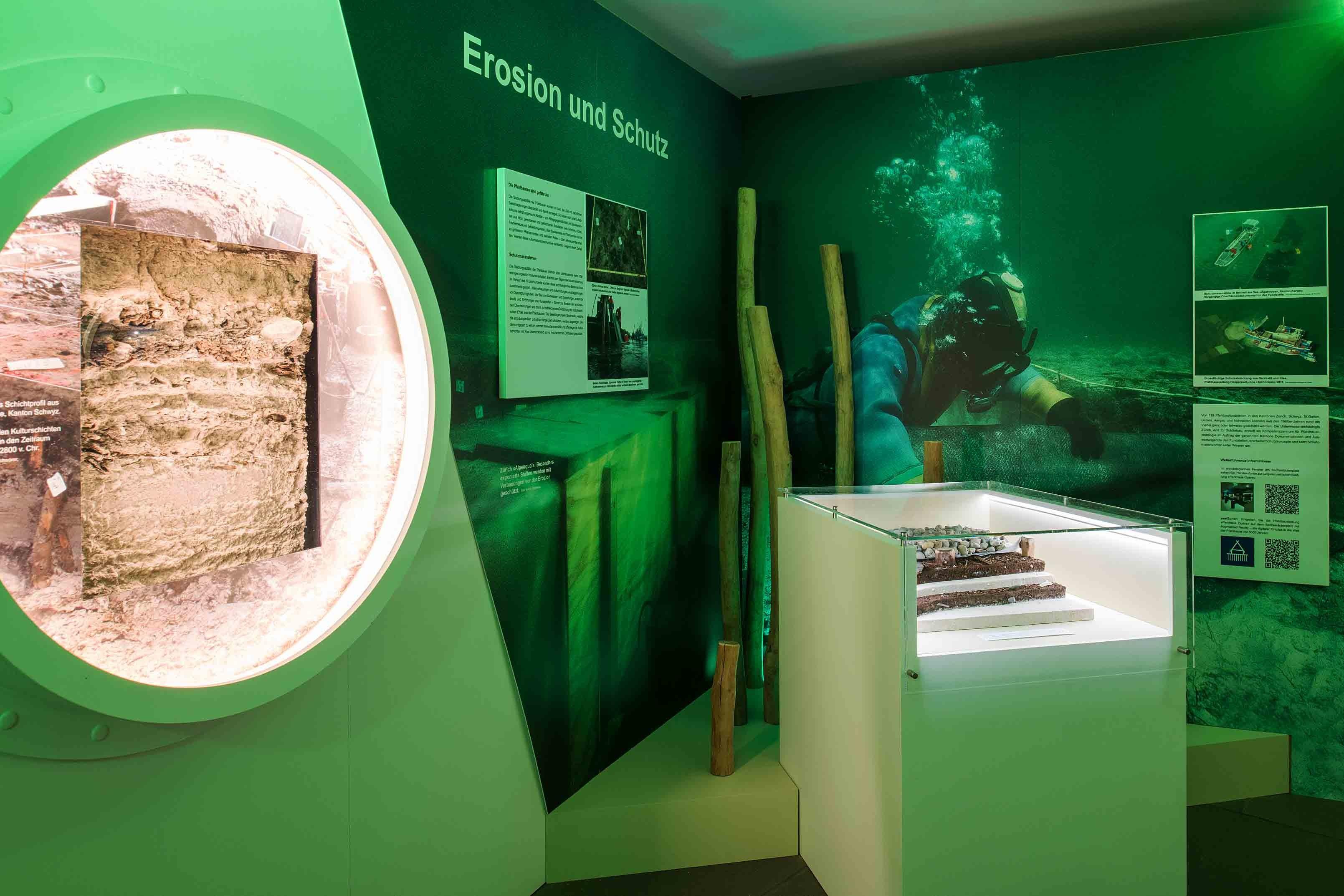 Ausstellung Unterwasserarchäologie in Zürich