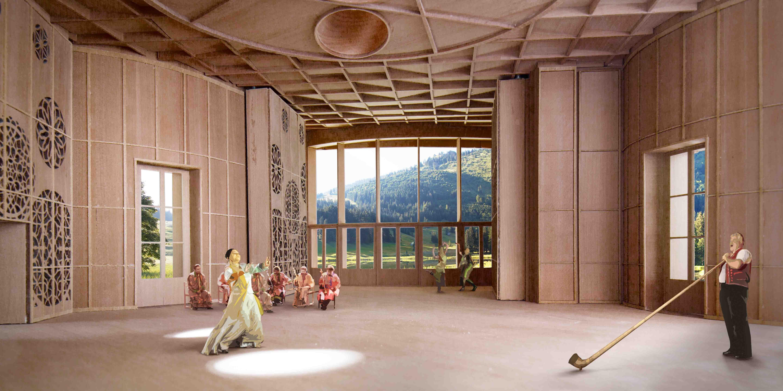 Visualisierung Innenraum Klanghaus Toggenburg
