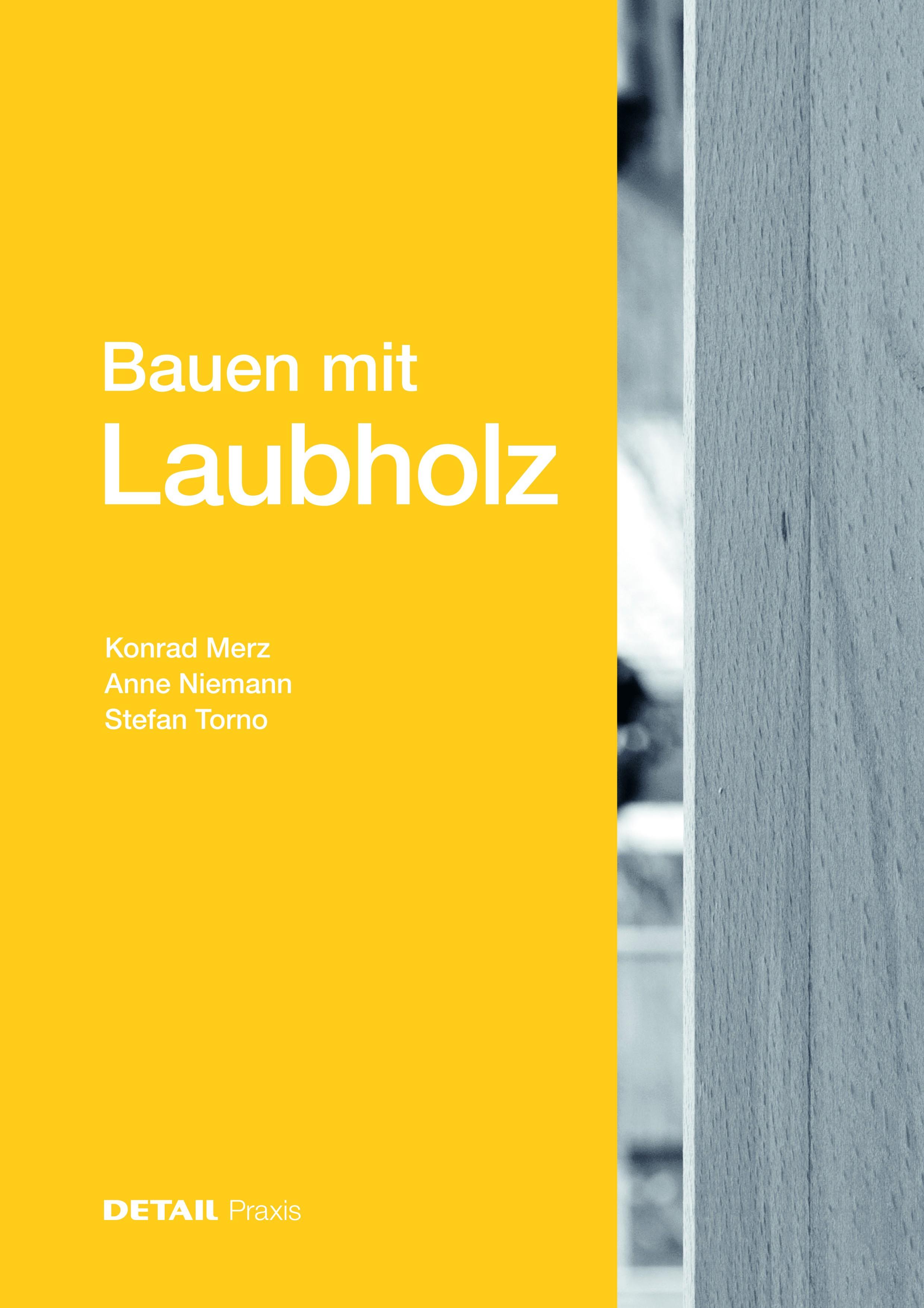 Buchcover: «Bauen mit Laubholz».