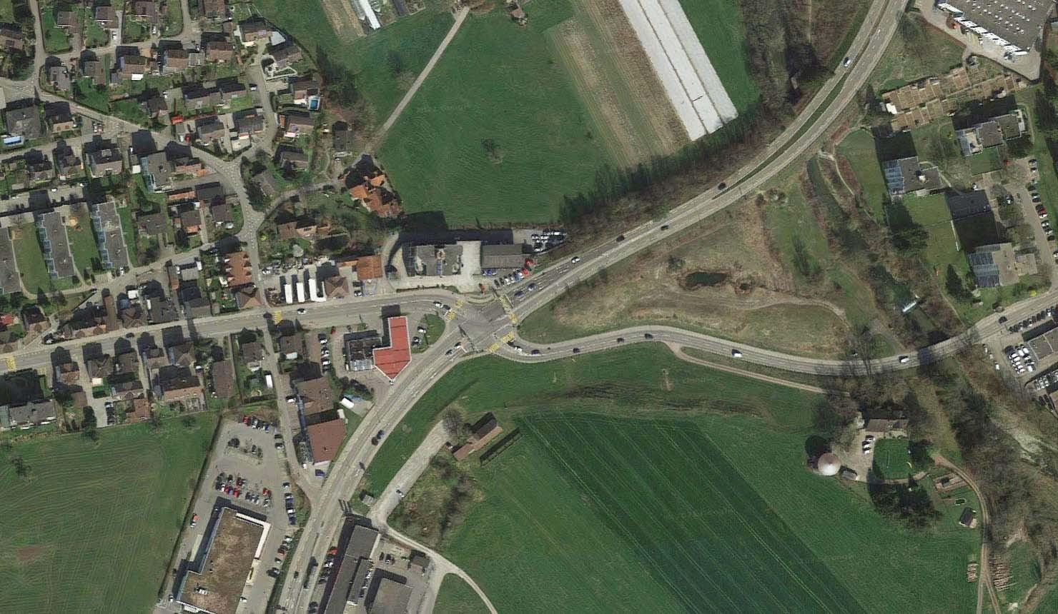 Kreuzung Augarten in Uzwil