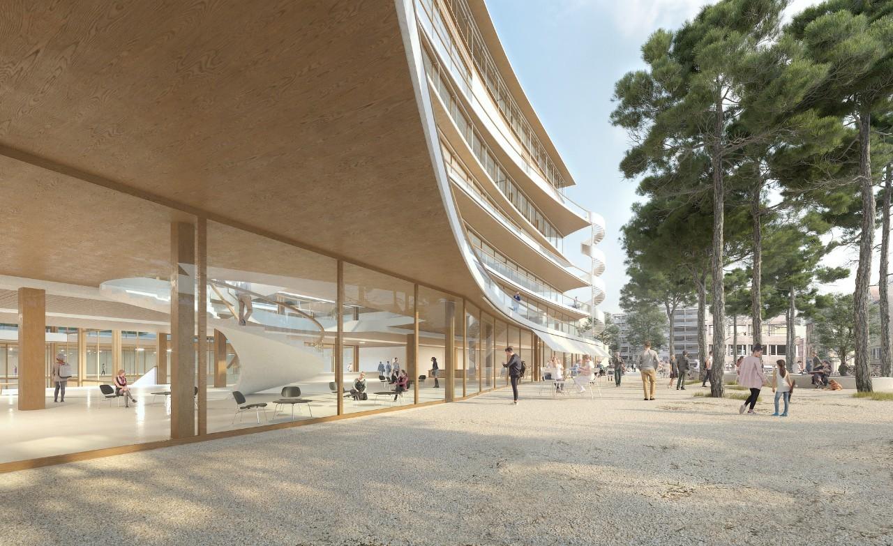 Visualisierung neuer HSG-Campus in St. Gallen