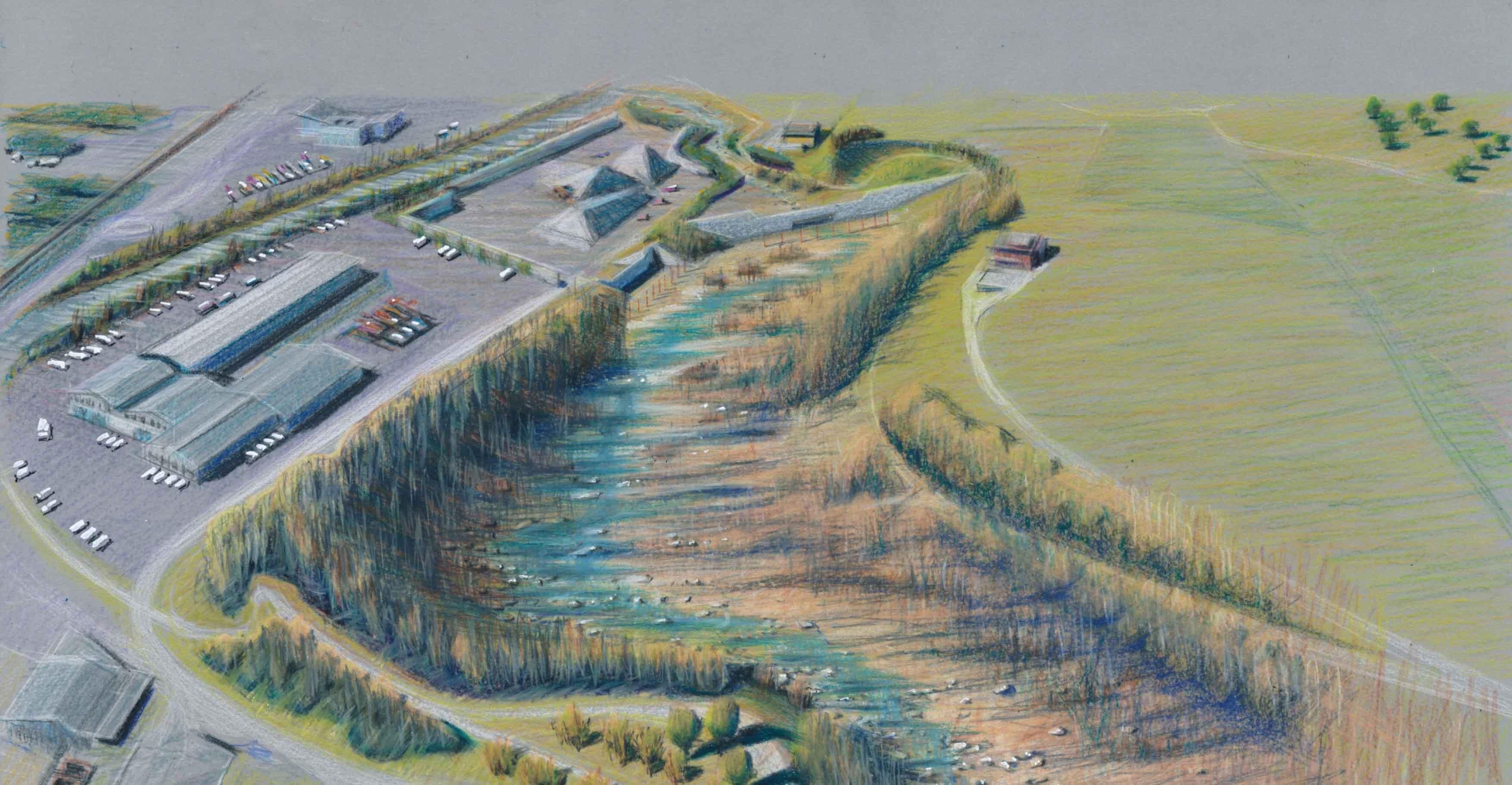 Visualisierung Hochwasserschutz am Buoholzbach