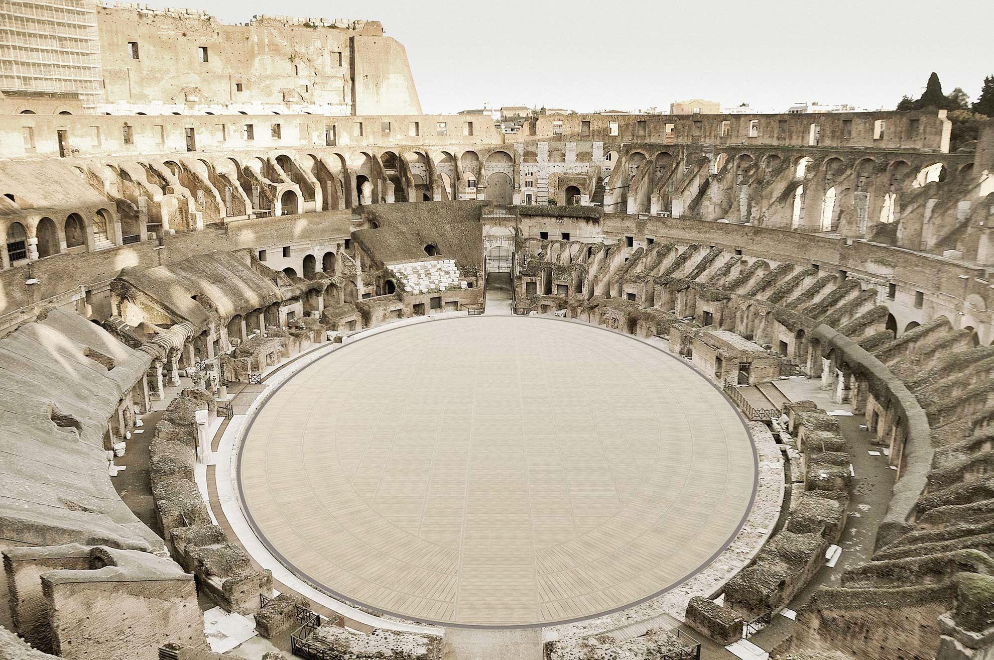 Kolosseum mit neuem Boden (Visualisierung)