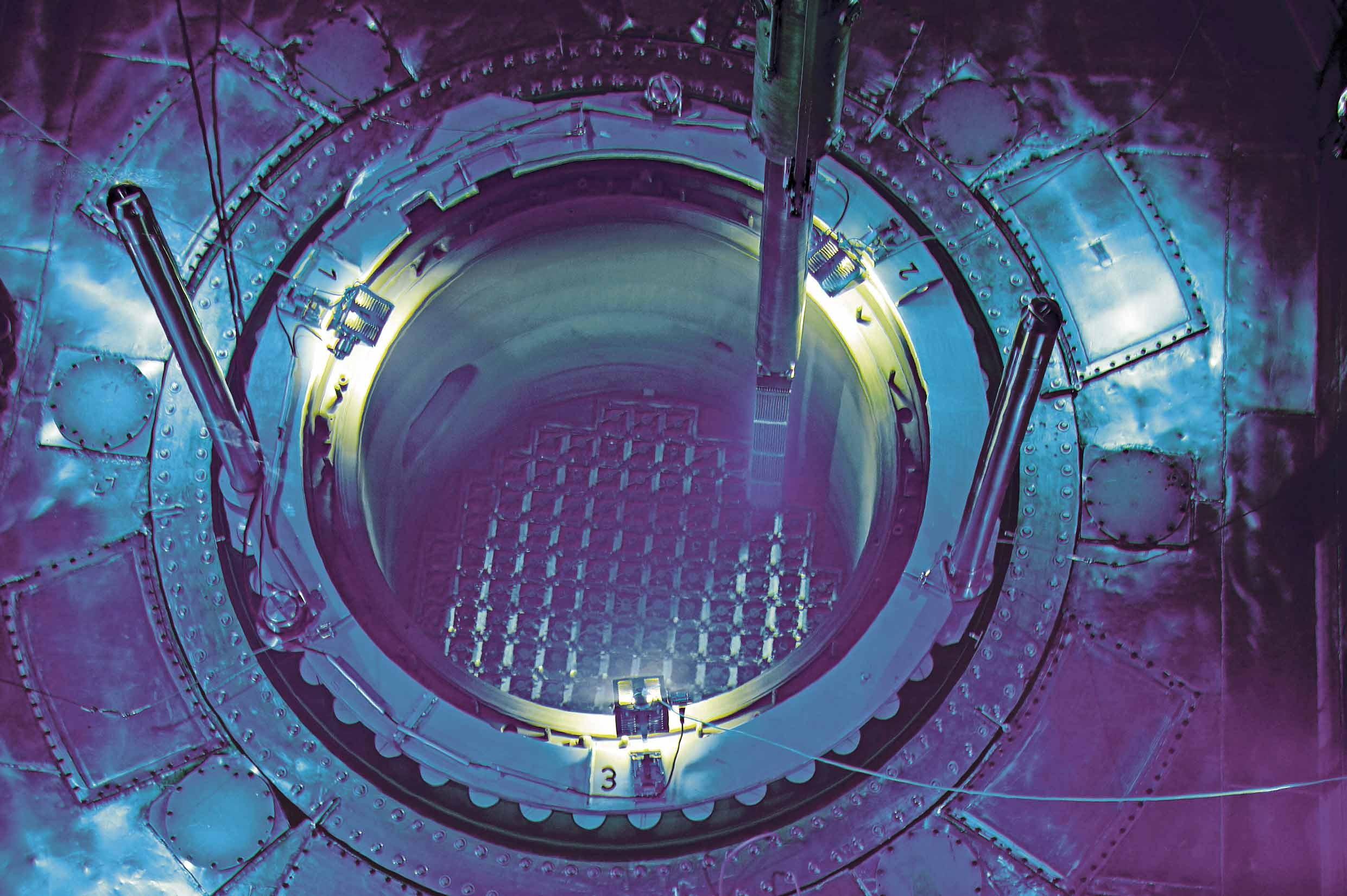 Reaktorkern im Kernkraftwerk Beznau