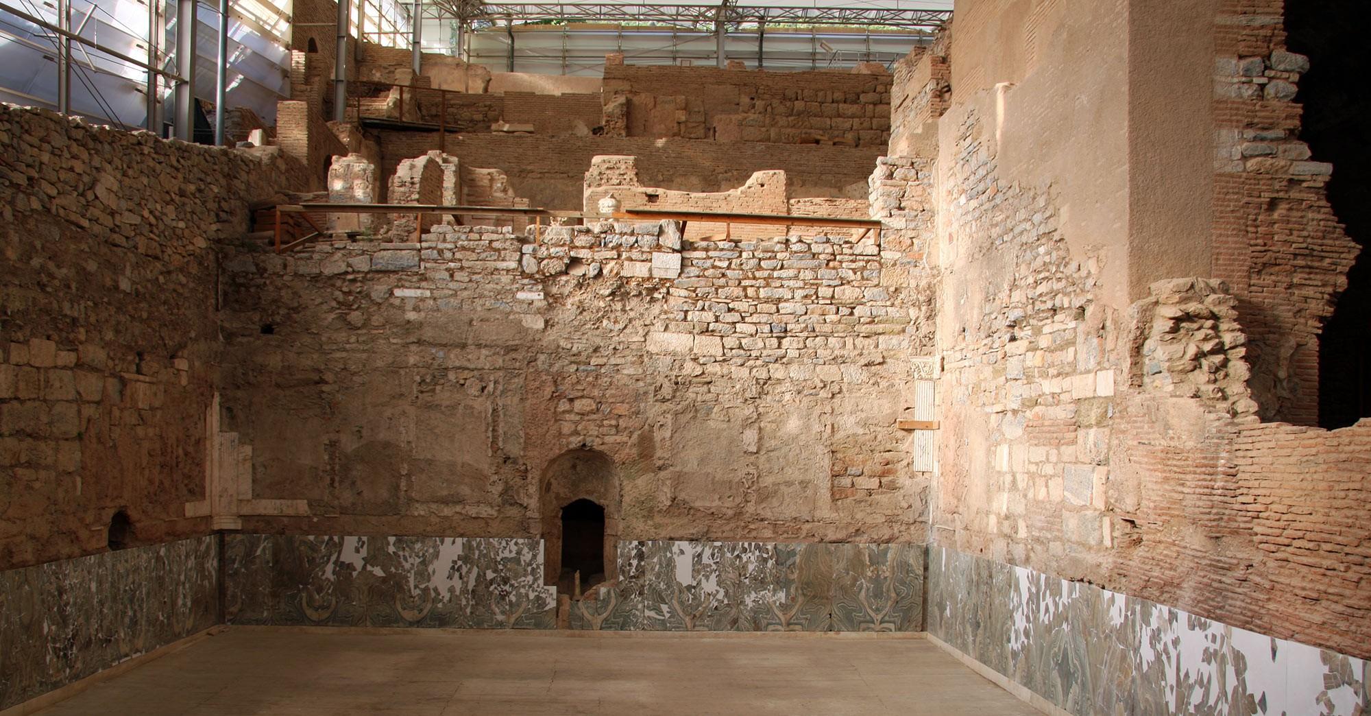 Halle der altrömischen Villa in Ephesos