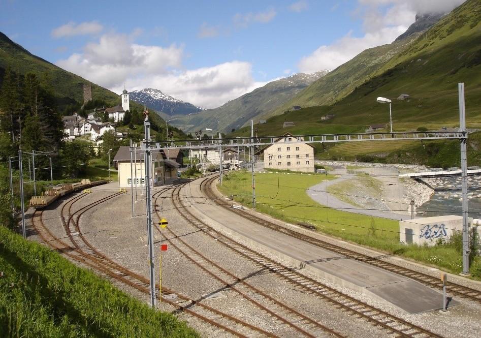 Bahnhof Hospental im Kanton Uri