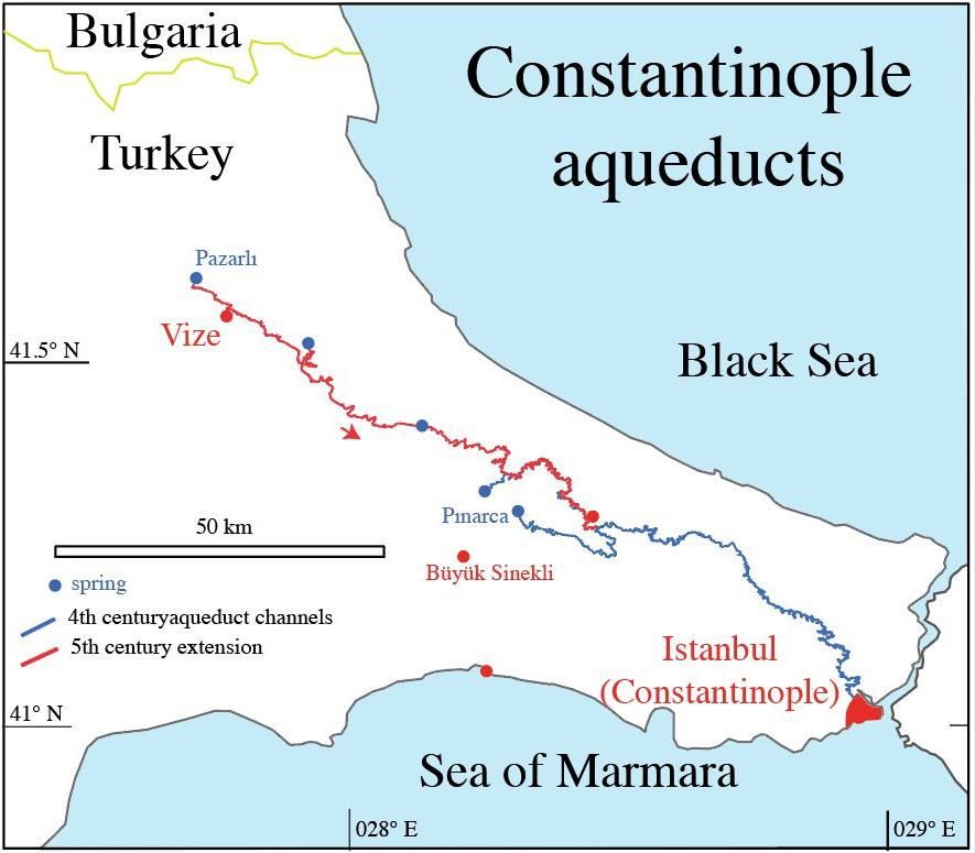 Verlauf des Aquädukts (Karte)