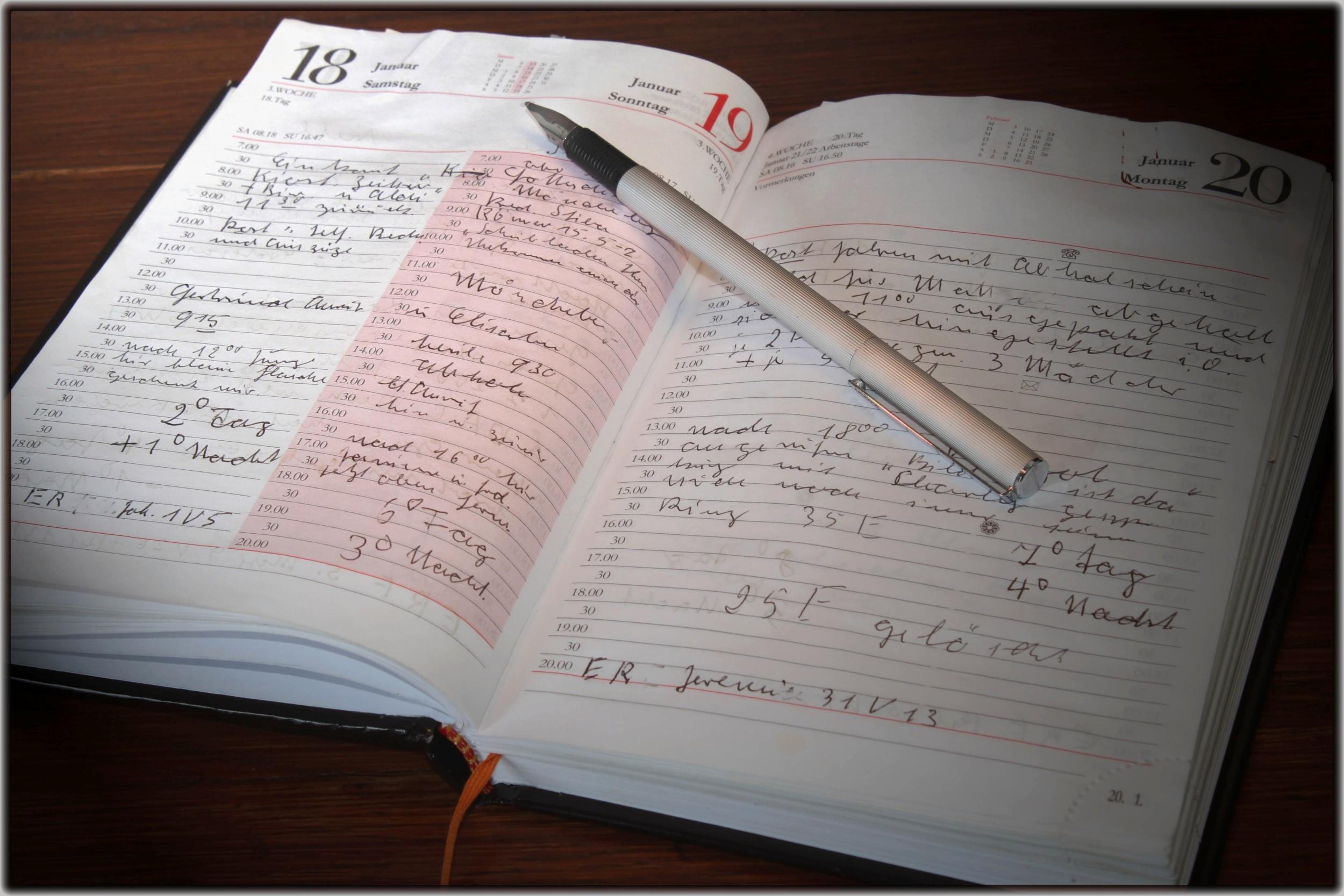 Voller Terminkalender