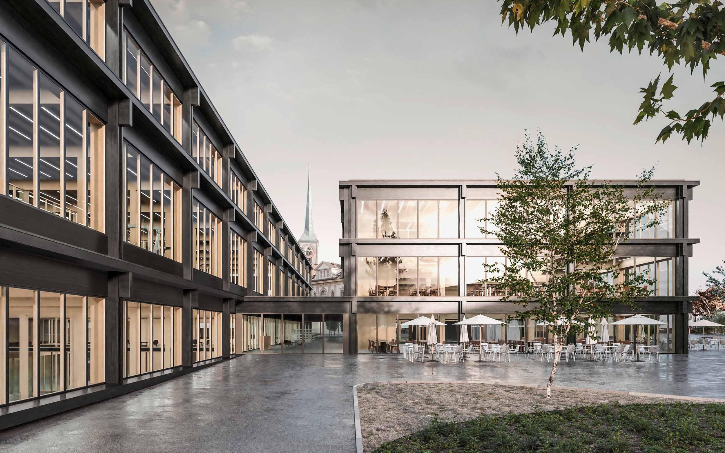 Visualisierung Neubau für die Technische Fachschule Bern