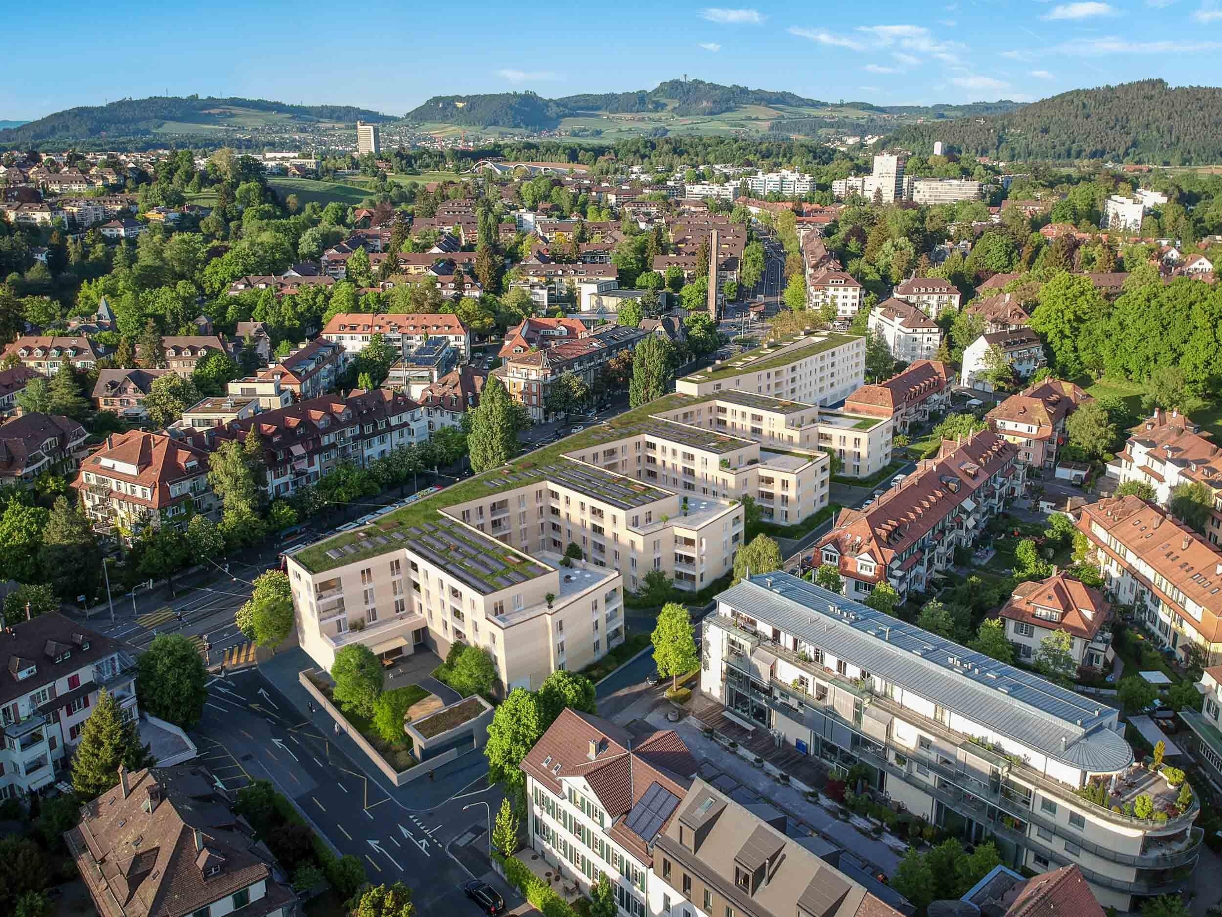 Visualisierung Überbauung Burgernziel Bern