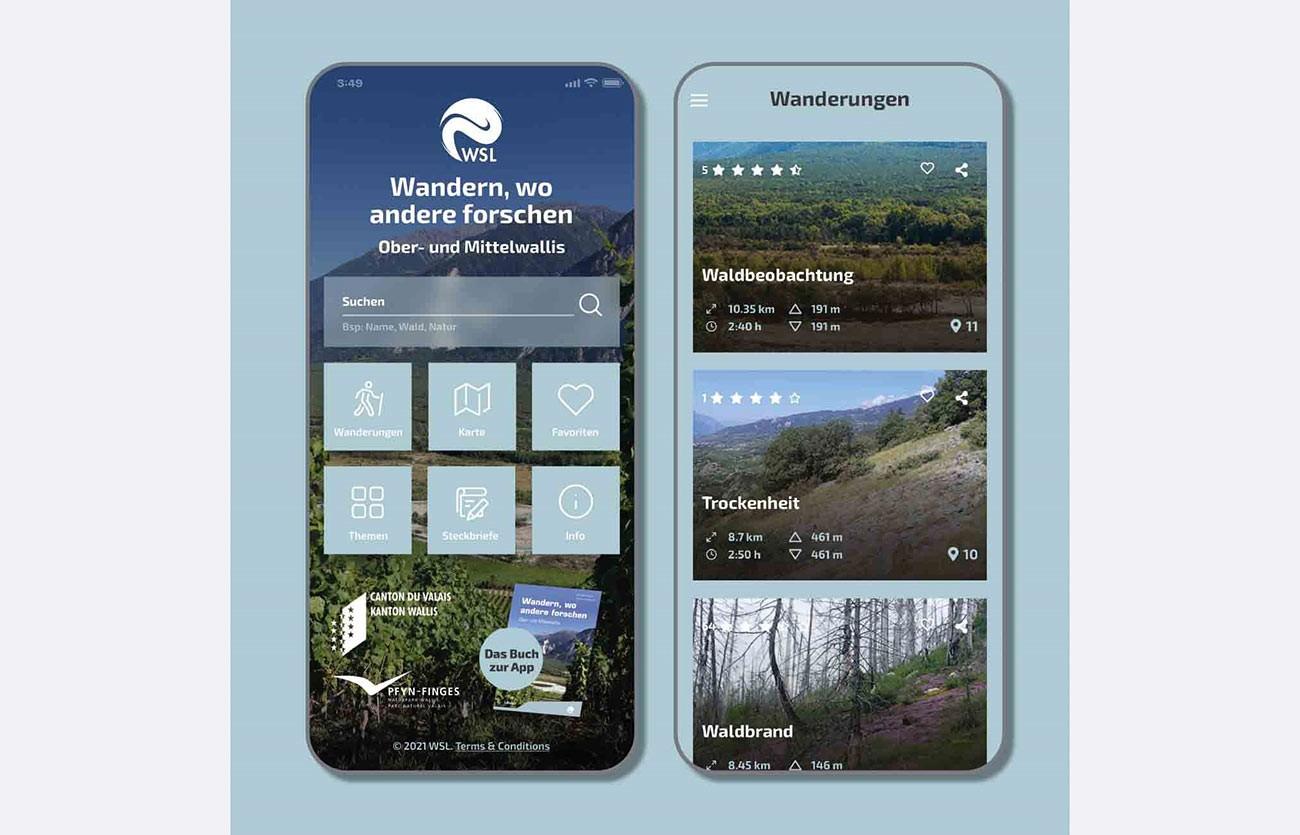 Screenshot, Wander-App