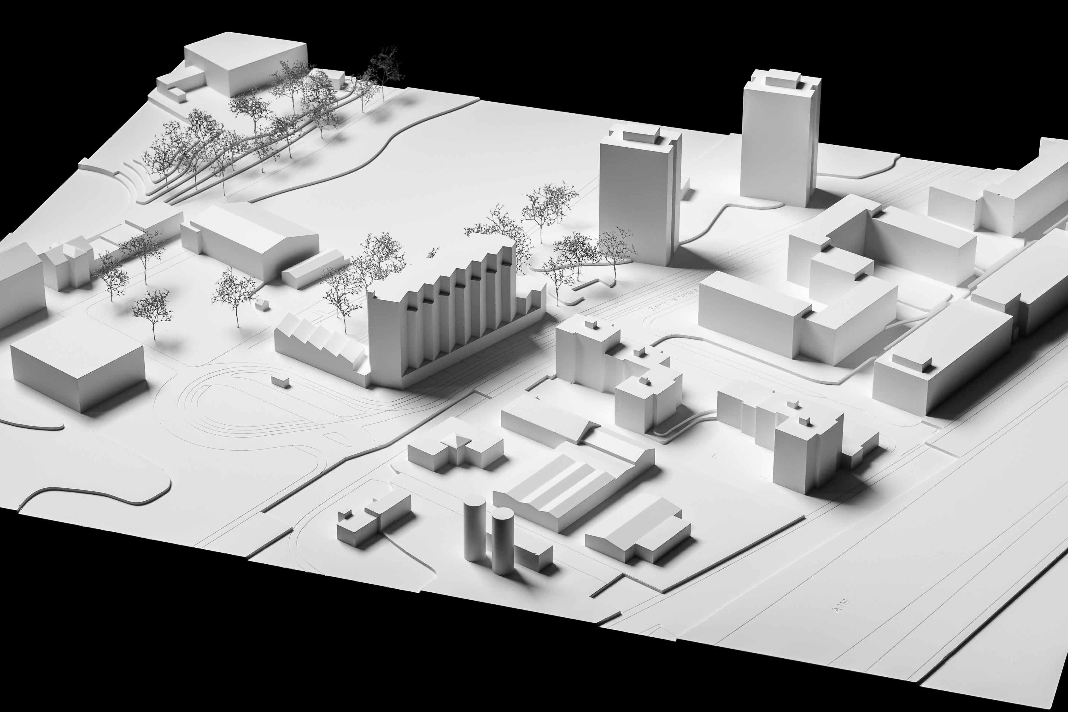 Modell Ersatzneubau Werdhölzli-Siedlung in Zürich-Altstetten