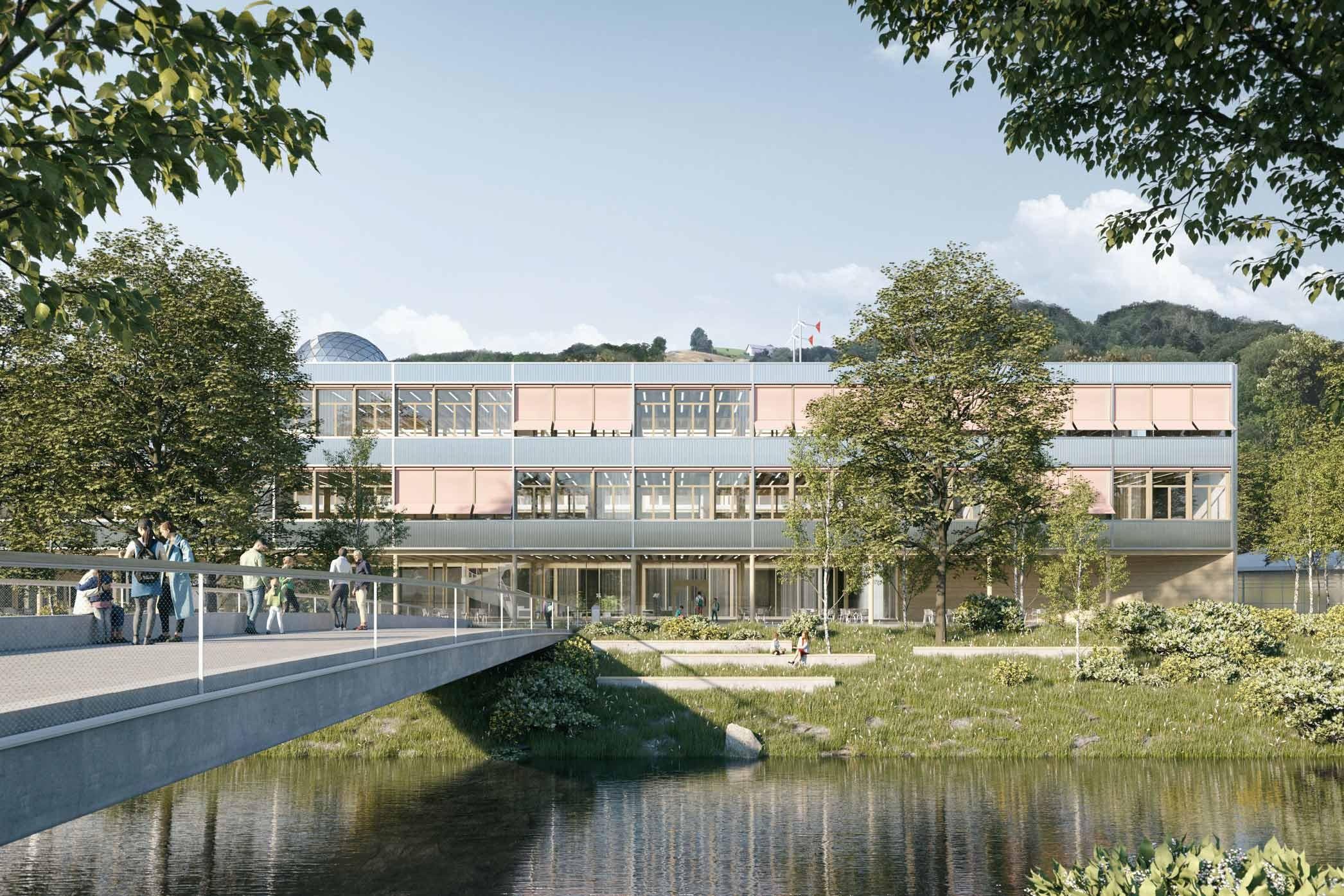 Visualisierung Projekt «CÉLESTE» für Kantonsschule Wattwil