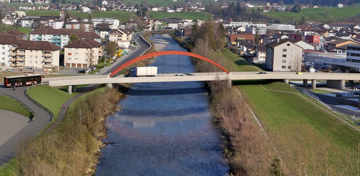 Visualisierung Muotabrücke West in Schwyz