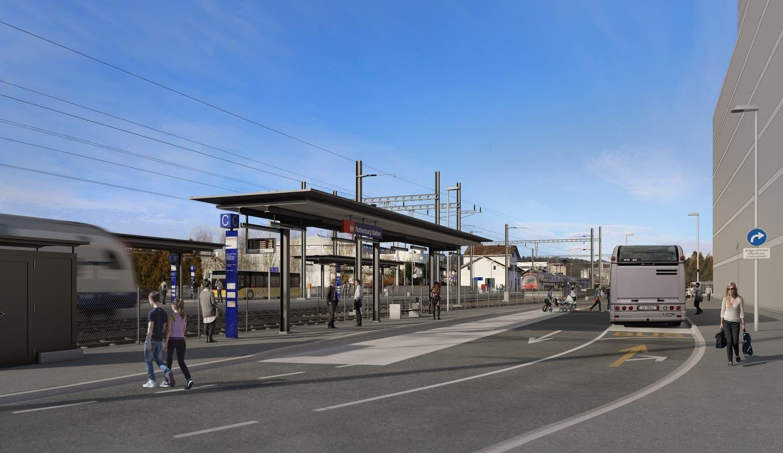 Visualisierung Bushub Ost Bahnhof-Ausbau Rothenburg
