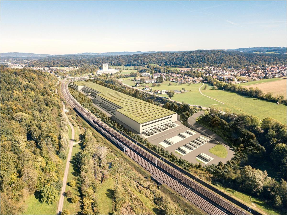 Visualisierung Lidl-Verteilzentrum in Roggwil