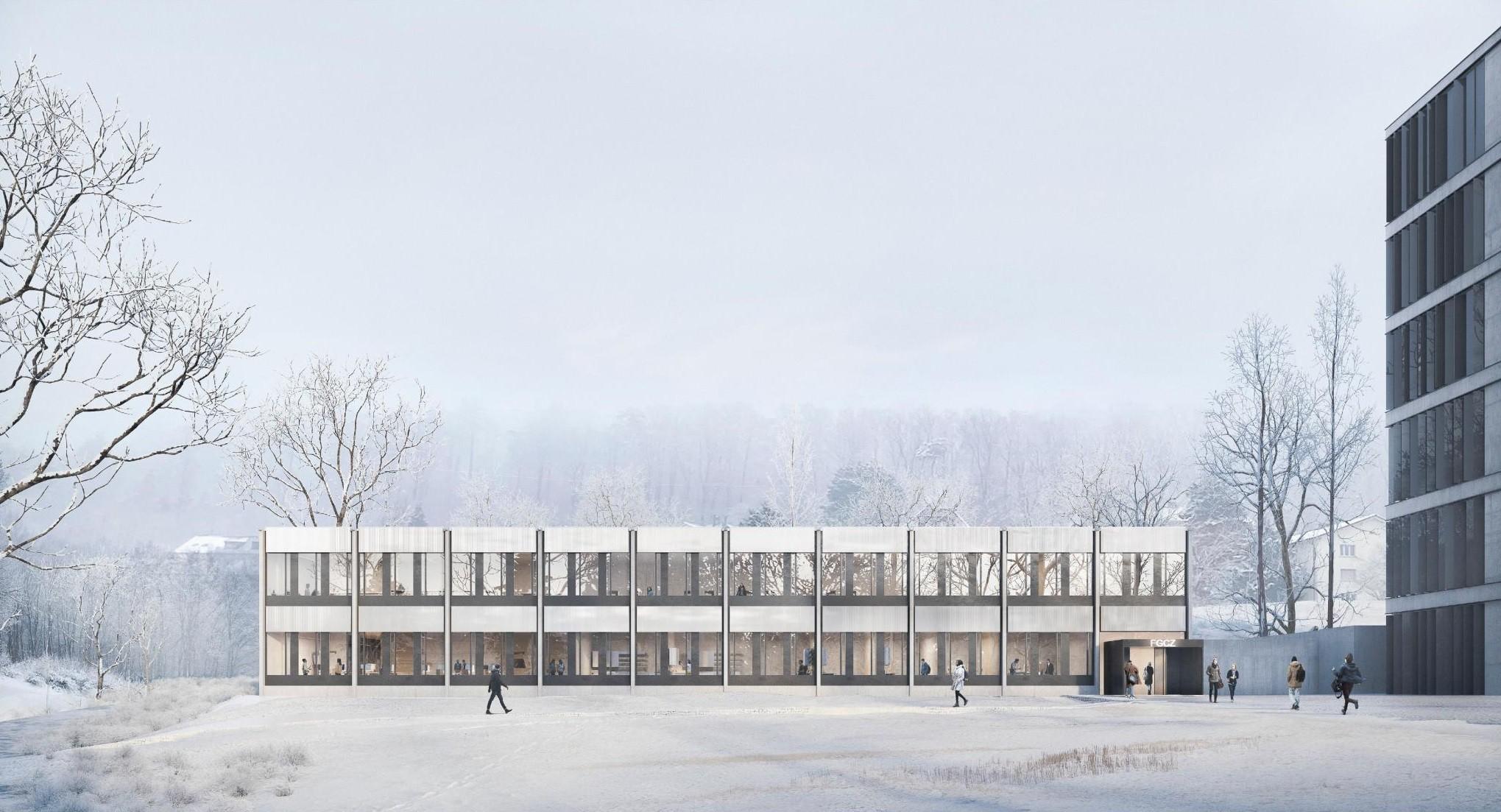 Visualisierung Projekt Spektrum für Labor-Provisorium am Campus Irchel