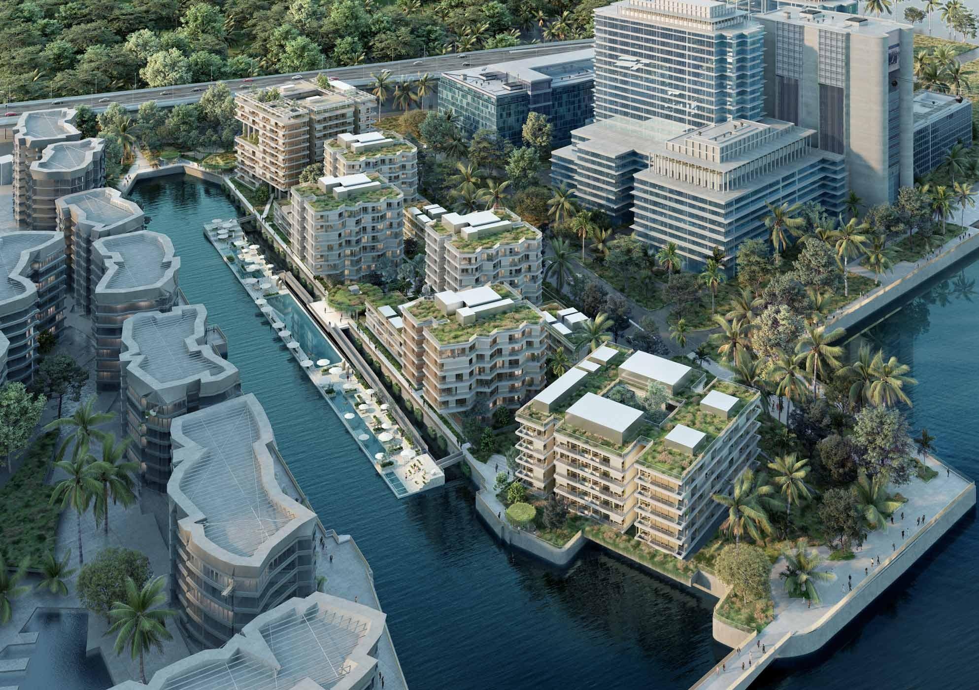 Visualisierung von The Reef at King's Dock in Singapur