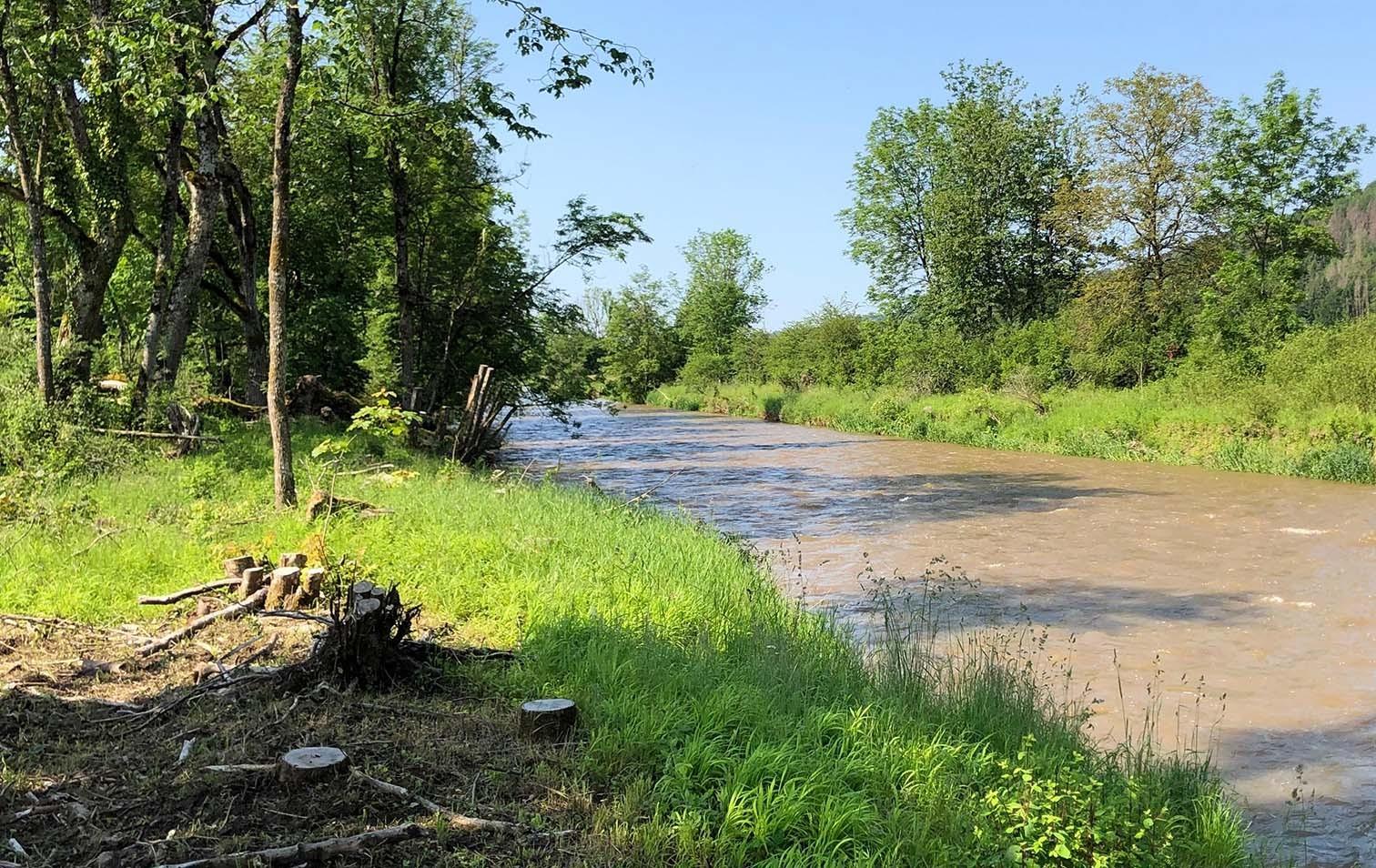 Fluss Wutach im Kanton Schaffhausen