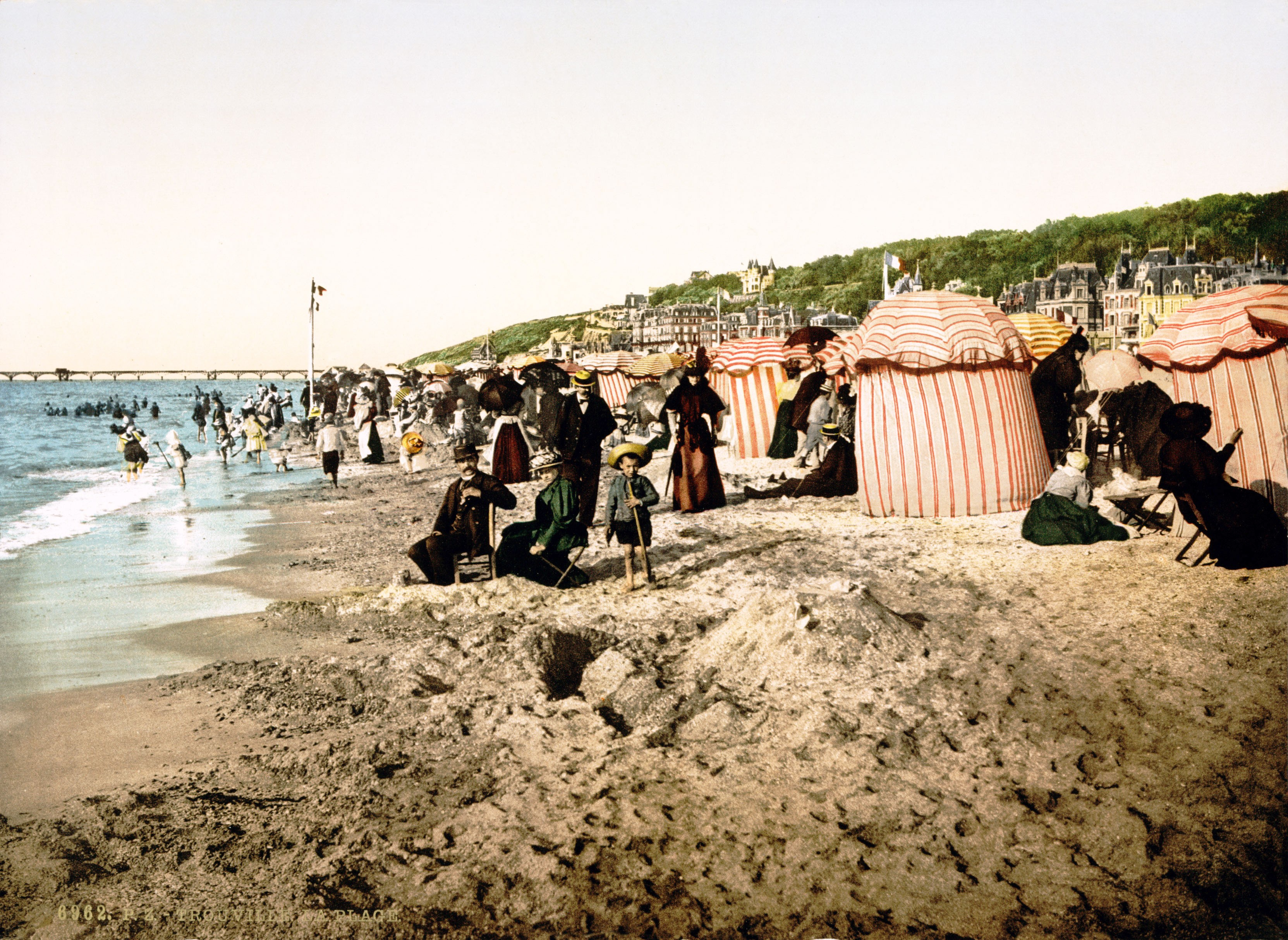 Badestrand in Trouville